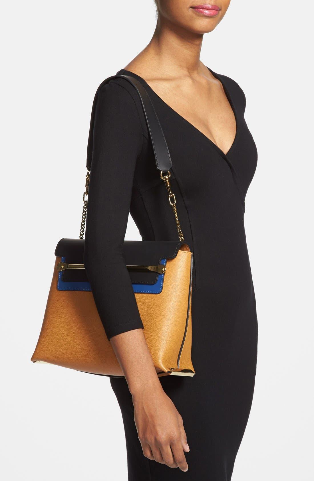 Alternate Image 2  - Chloé 'Clare' Tricolor Leather Shoulder Bag