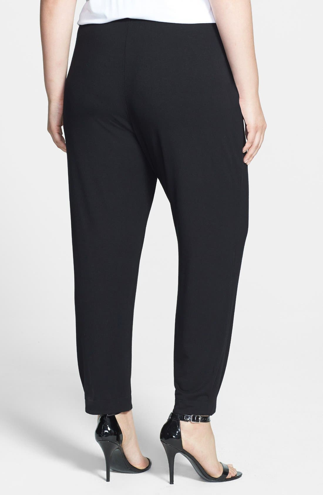 Alternate Image 2  - Sejour Knit Ankle Pants (Plus Size)