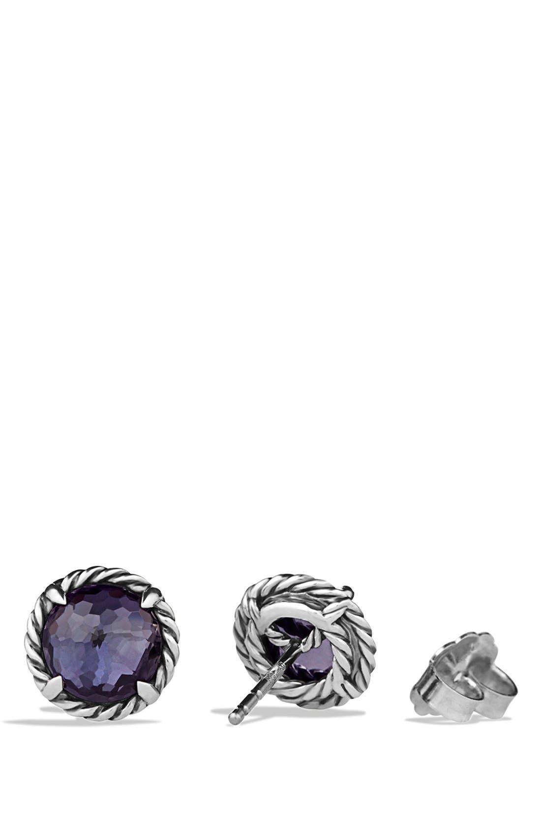 'Châtelaine' Earrings,                             Alternate thumbnail 3, color,                             Black Orchid