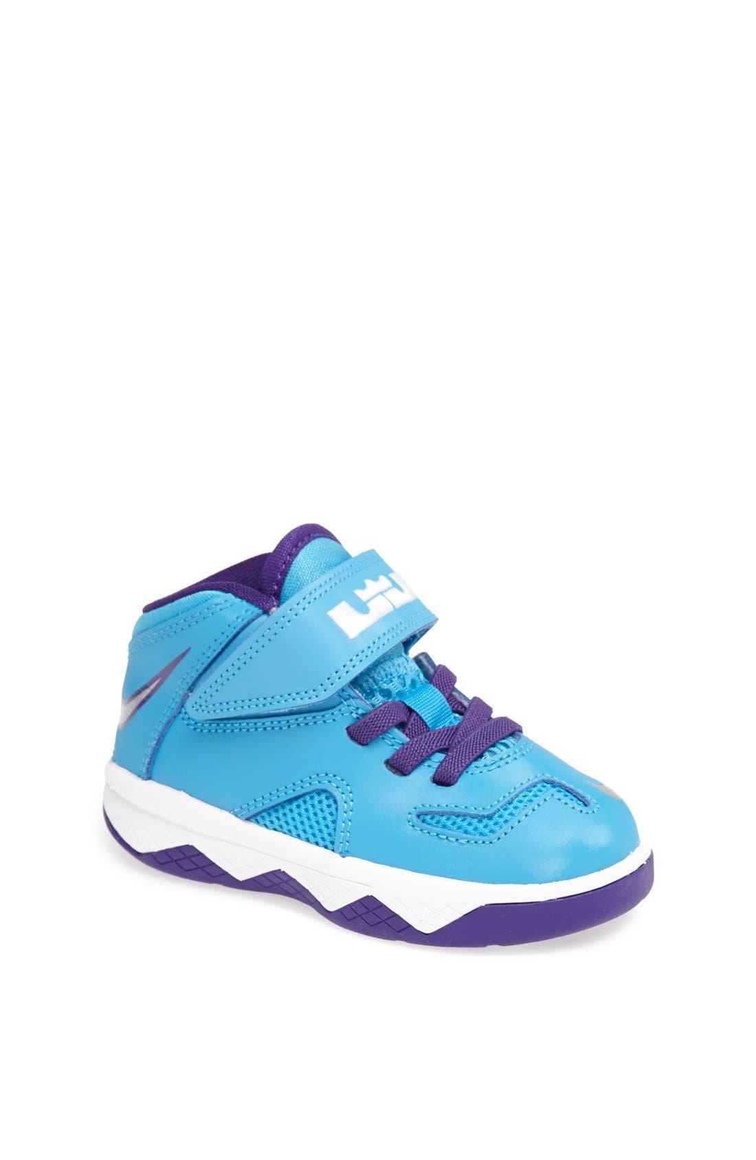 Alternate Image 1 Selected - Nike 'LeBron Soldier 7' Basketball Shoe (Baby, Walker & Toddler)