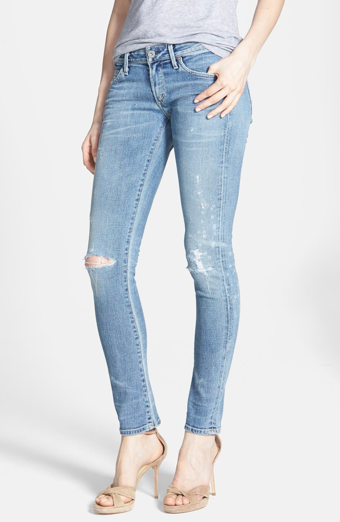 Alternate Image 1 Selected - Citizens of Humanity 'Premium Vintage - Racer' Distressed Skinny Jeans (Crosby)