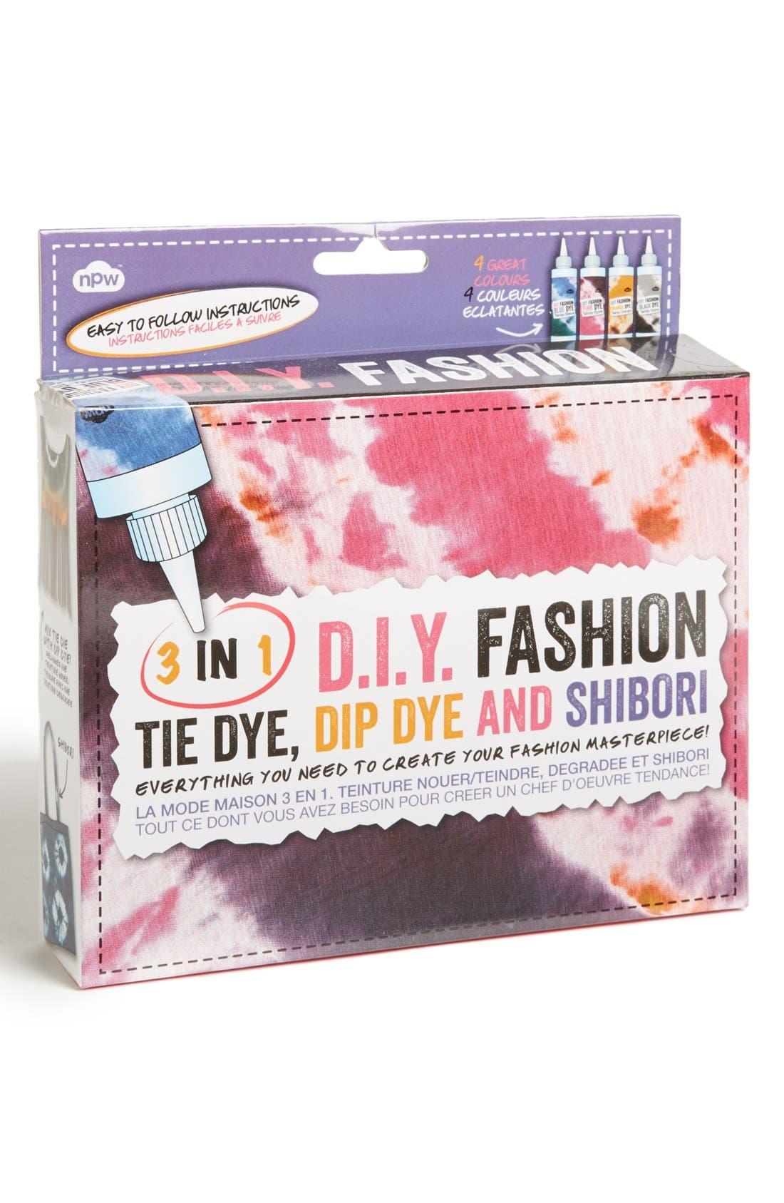 Main Image - NPW 'D.I.Y. Fashion' Tie Dye, Dip Dye & Shibori Kit (Juniors) (Online Only)