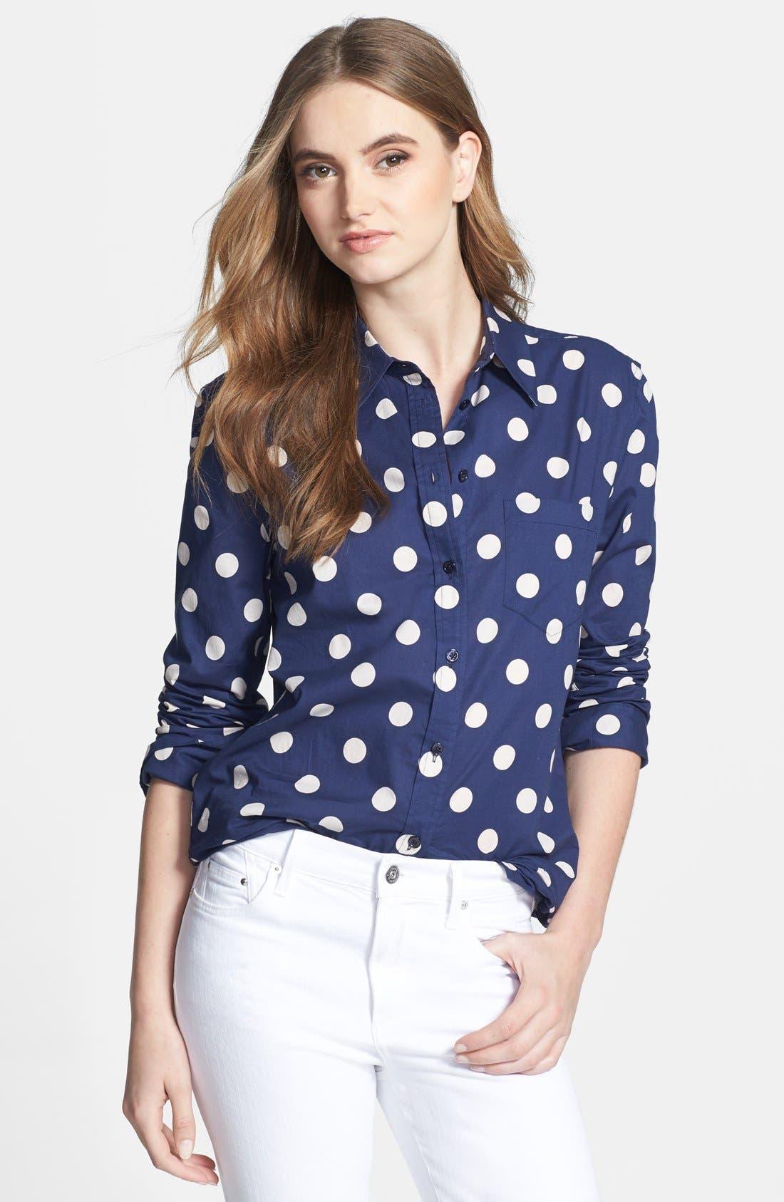 Alternate Image 1 Selected - Equipment 'Reese' Polka Dot Cotton Shirt