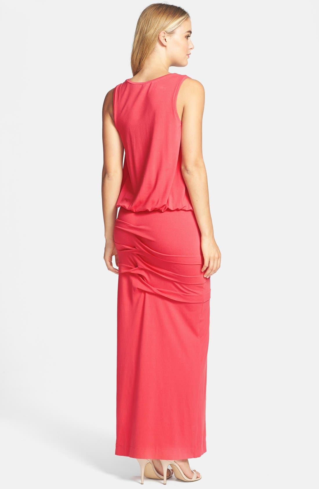 Alternate Image 2  - Nicole Miller Blouson Jersey Maxi Dress