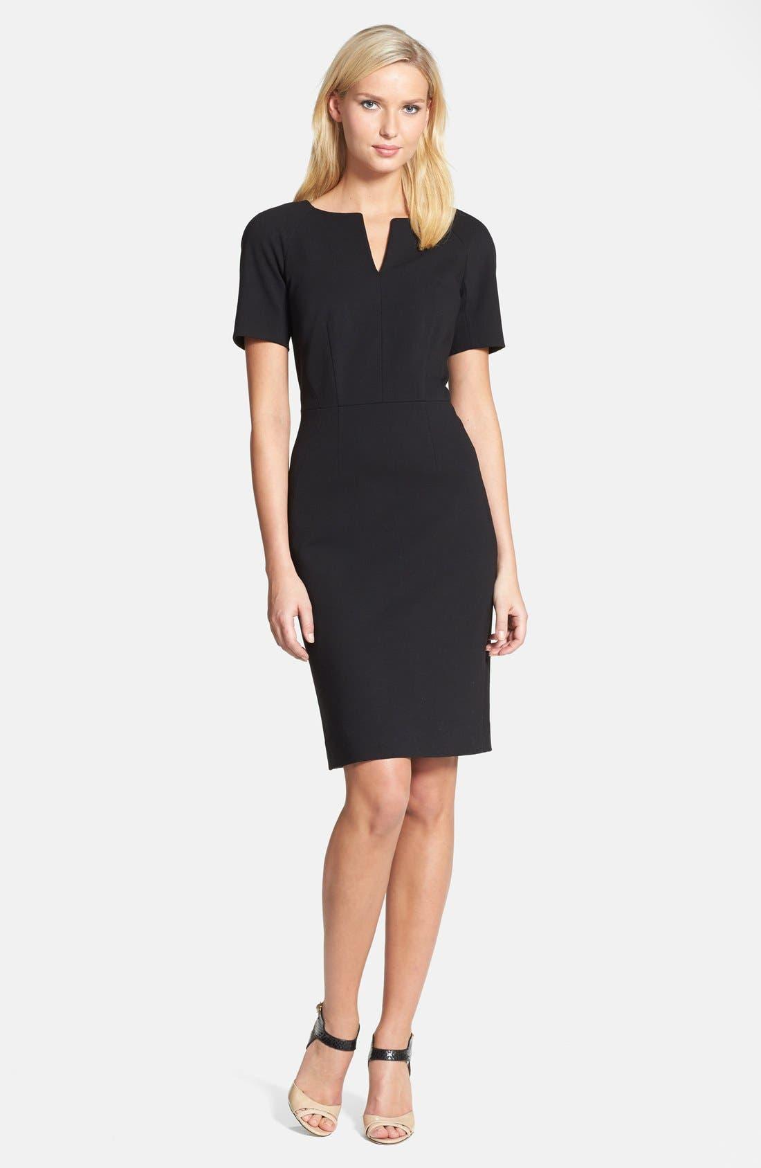 Alternate Image 1 Selected - Classiques Entier® Shaped Shoulder Ponte Dress