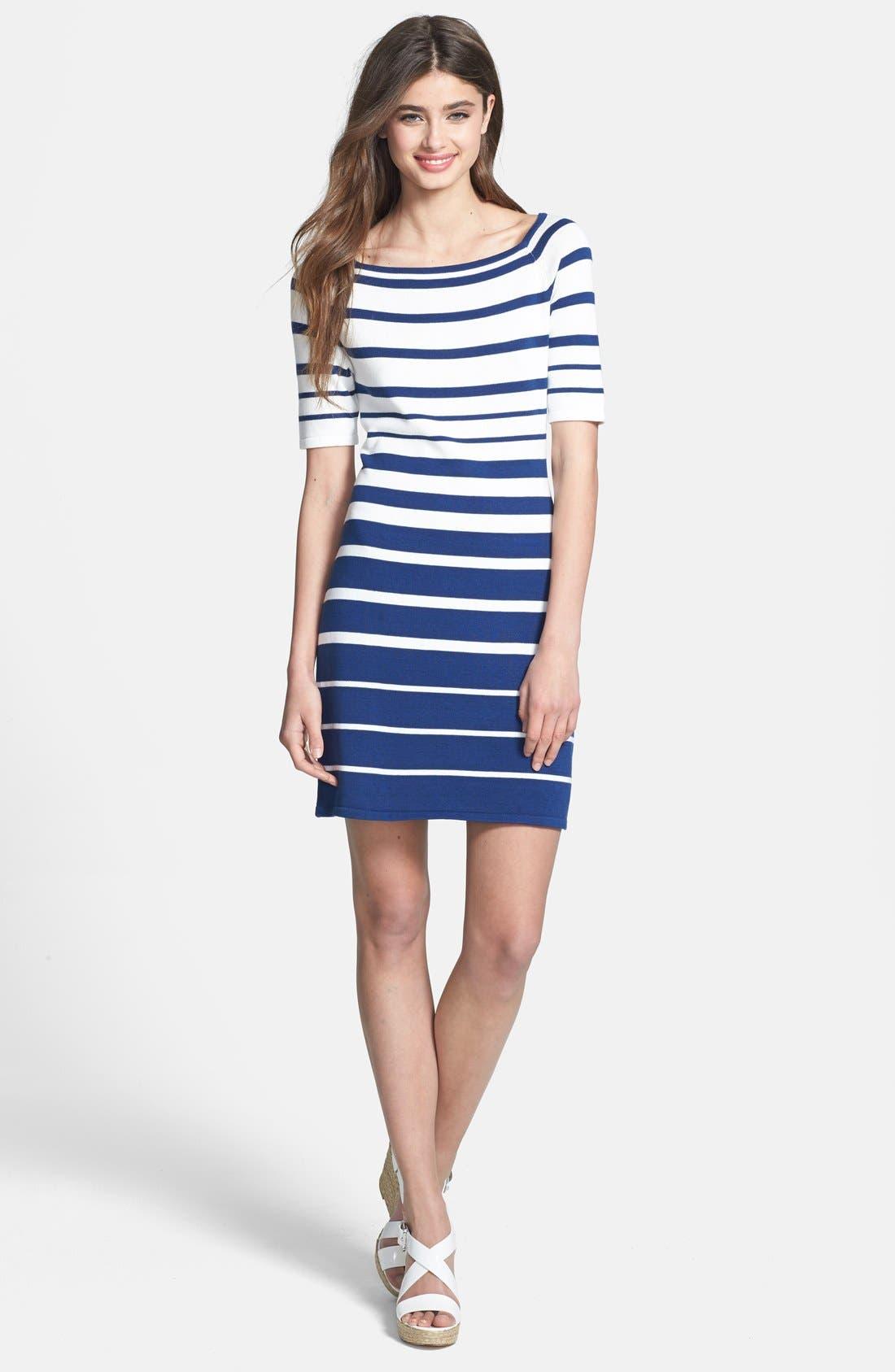 Alternate Image 3  - Trina Trina Turk 'Olive' Stripe Sweater Dress