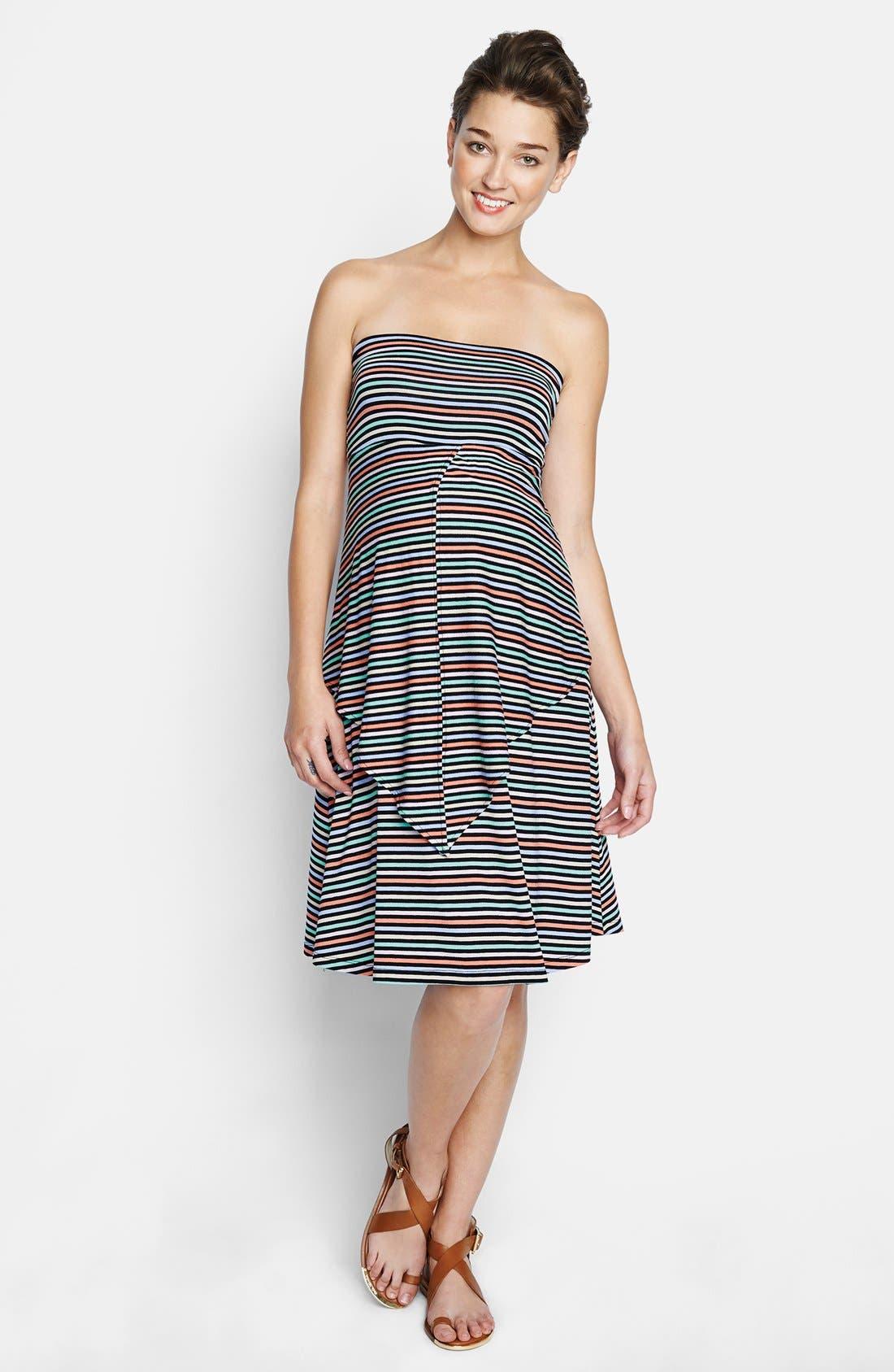 Convertible Maternity Dress,                             Main thumbnail 1, color,                             Candy Stripes