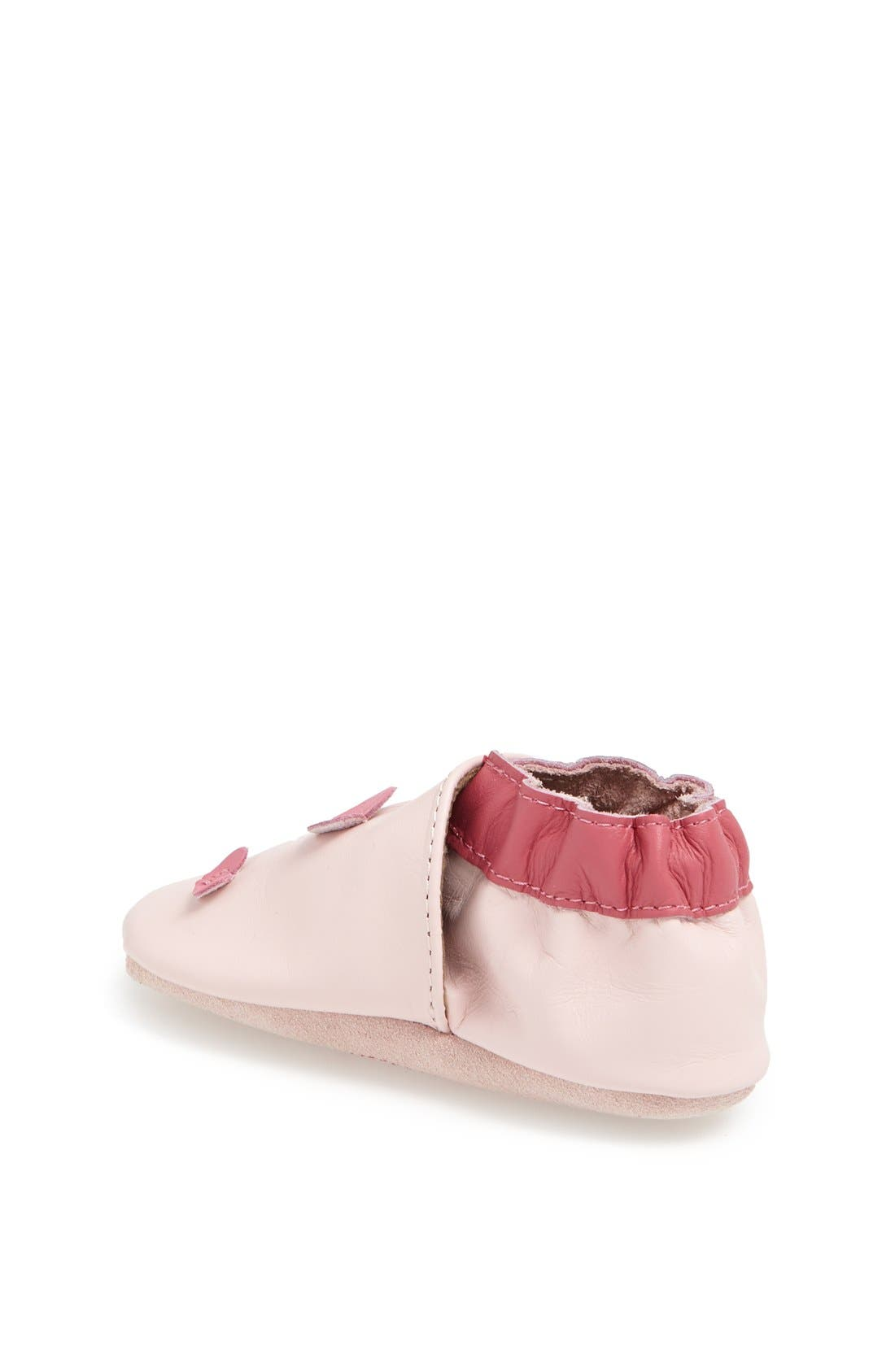 'Sweet Heart' Crib Shoe,                             Alternate thumbnail 2, color,                             Pink