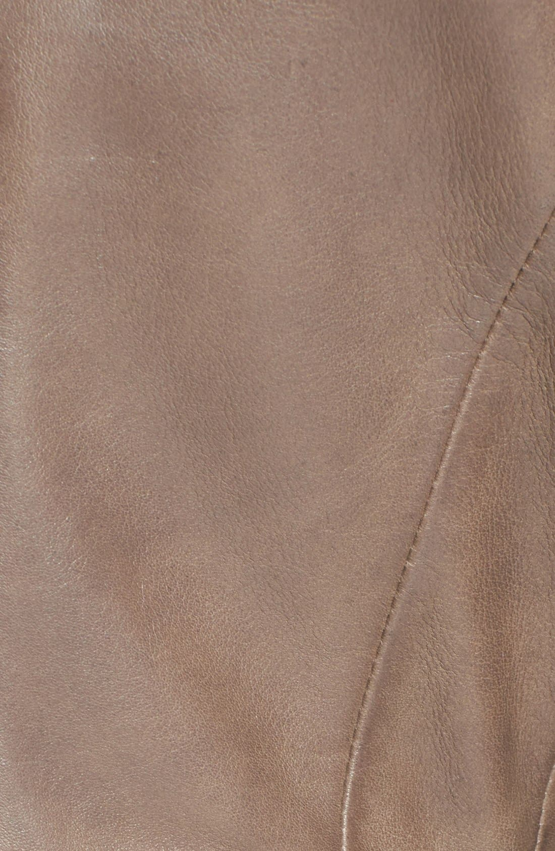 Alternate Image 3  - Elie Tahari 'Beverly' Curved Hem Leather Jacket