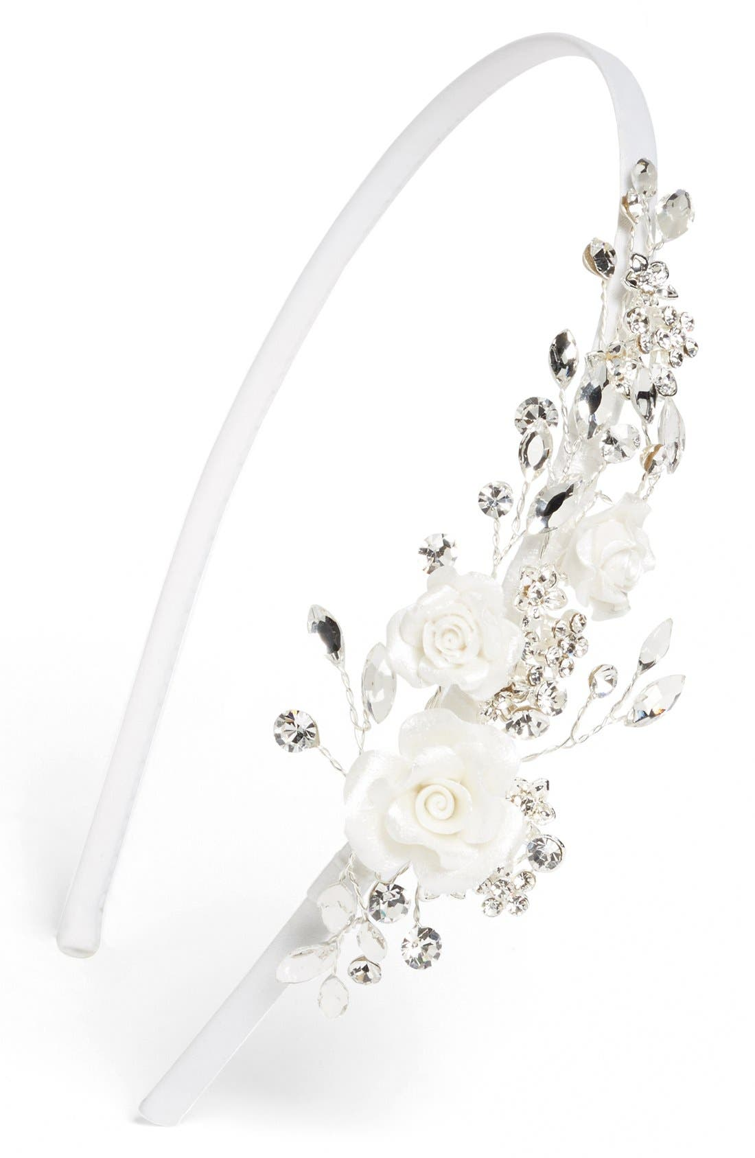 Alternate Image 1 Selected - Wedding Belles New York Rosette Headband (Girls)