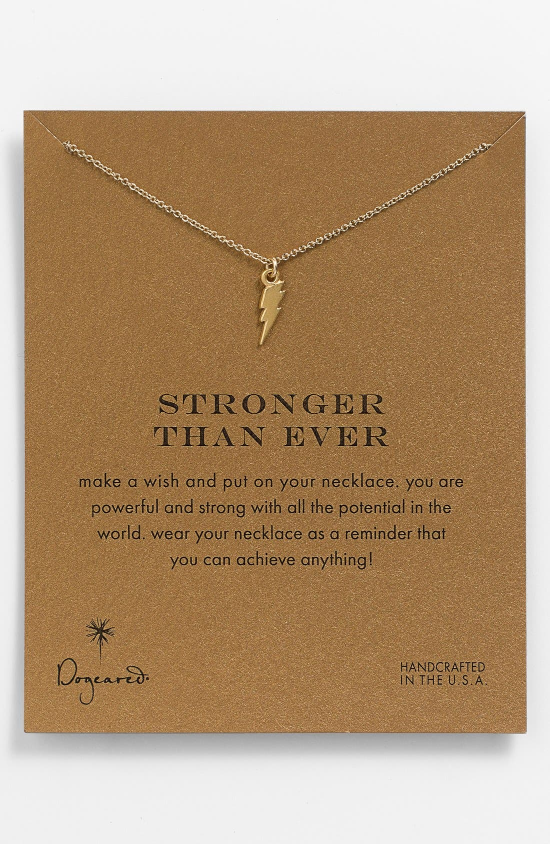 Alternate Image 1 Selected - Dogeared 'Reminder - Stronger Than Ever' Pendant Necklace
