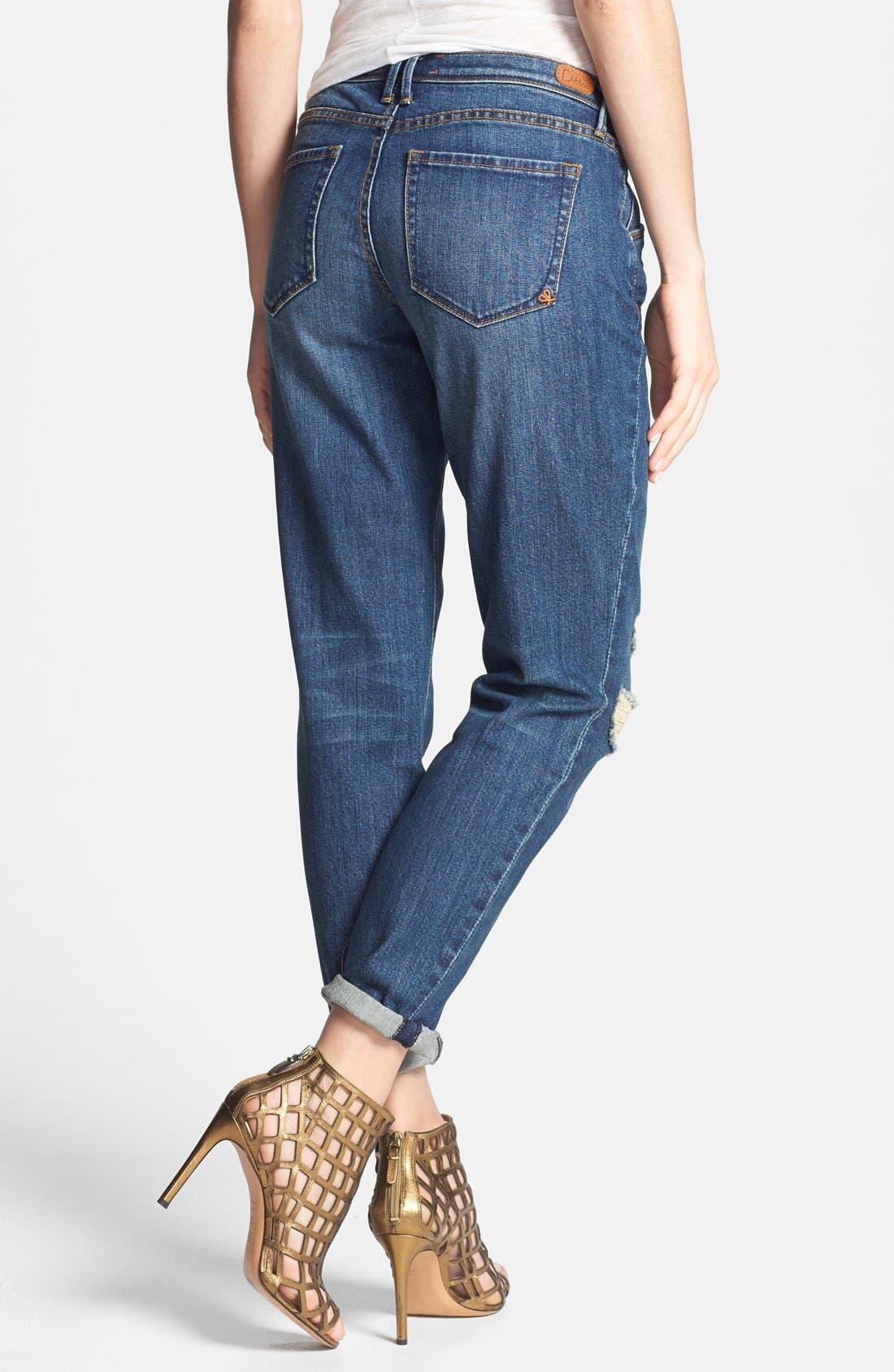 Alternate Image 2  - Dittos 'Charlie' Destroyed Boyfriend Jeans (Lady Foot)