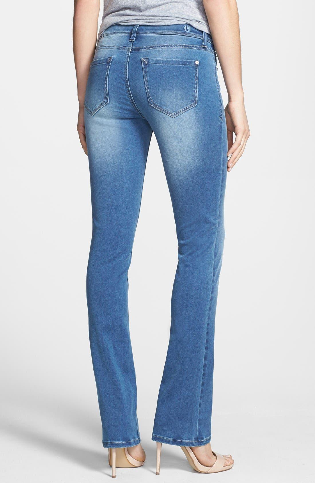 Alternate Image 2  - kensie Skinny Bootcut Jeans (Layla)