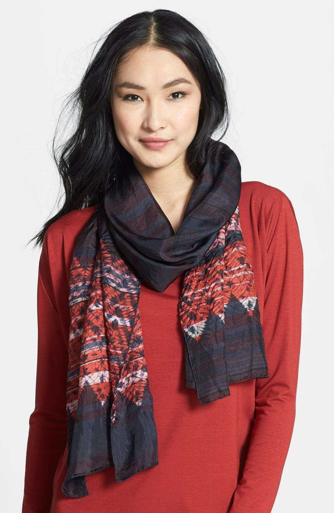 Alternate Image 1 Selected - Eileen Fisher Print Silk Scarf