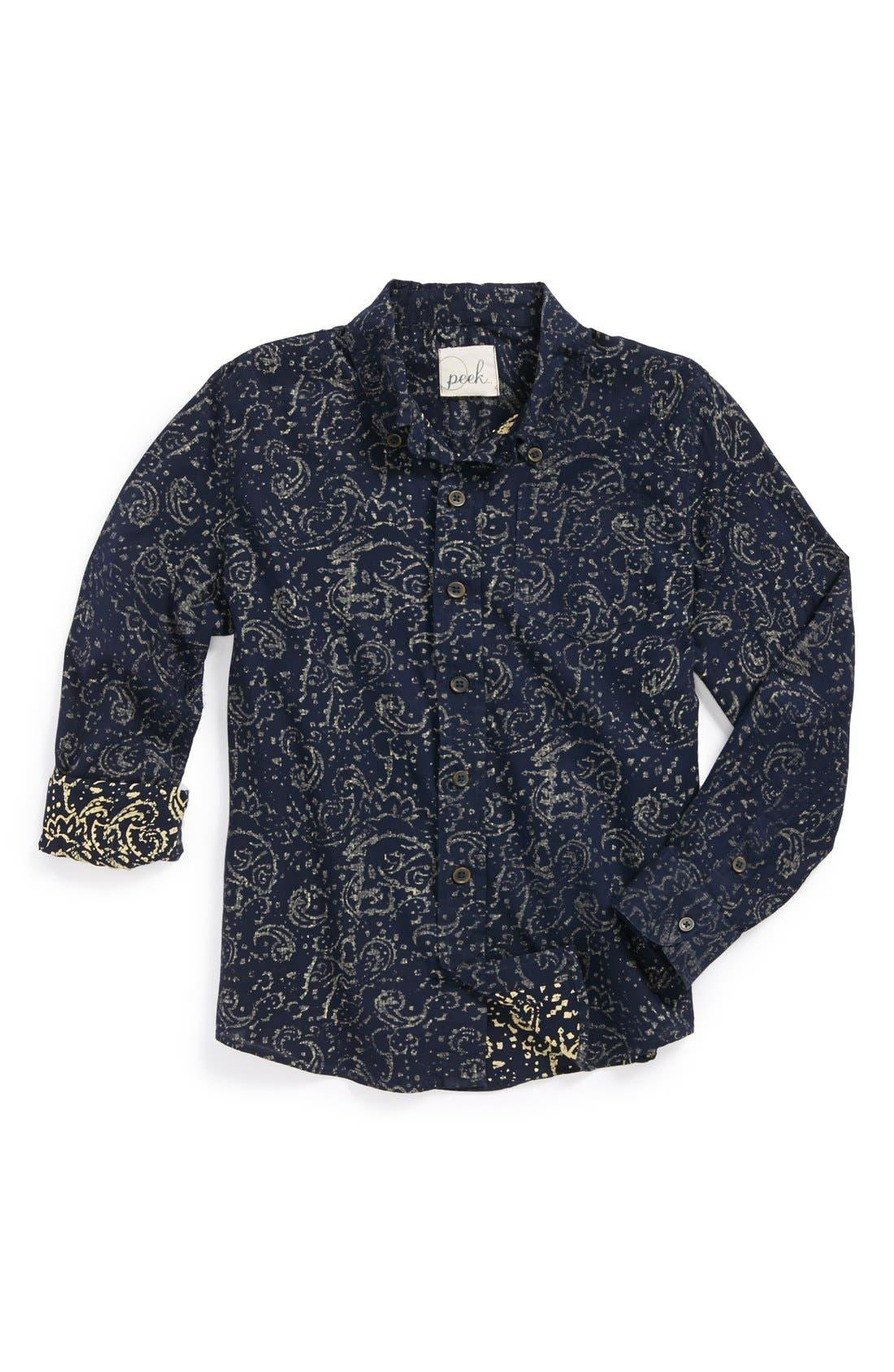 Main Image - Peek 'Paisley' Woven Shirt (Big Boys)