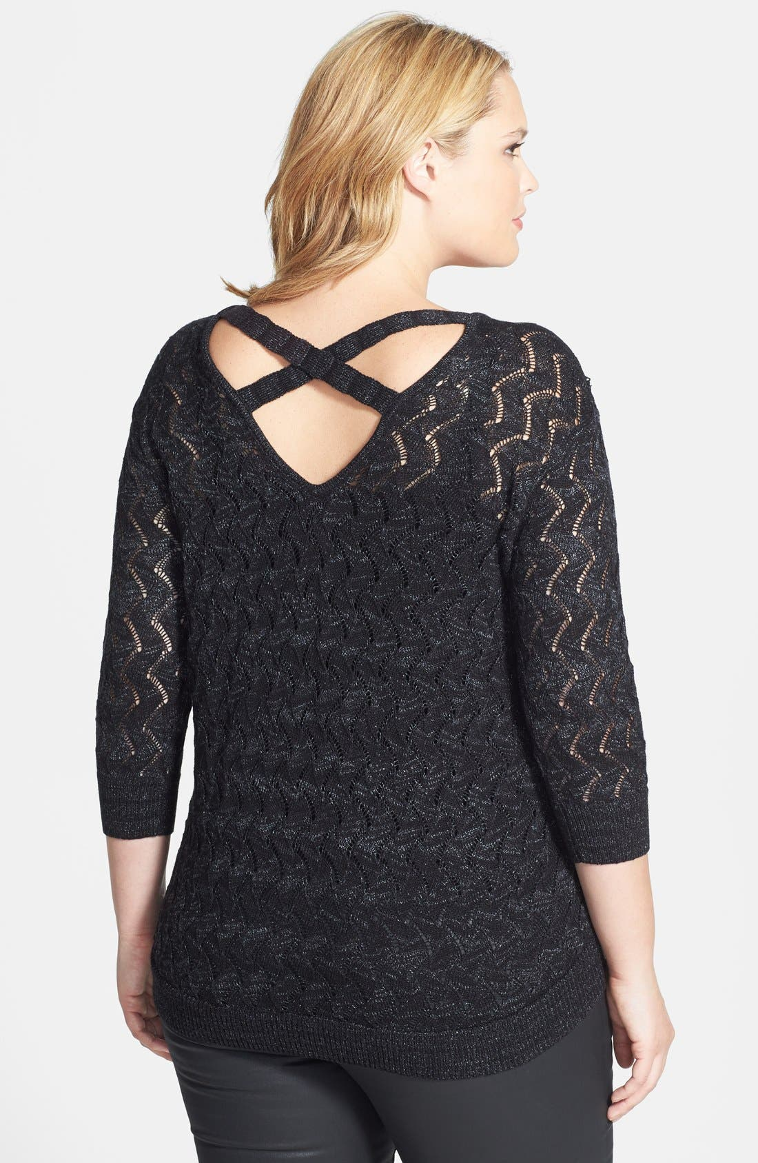 Alternate Image 2  - Sejour Cross Back V-Neck Sweater