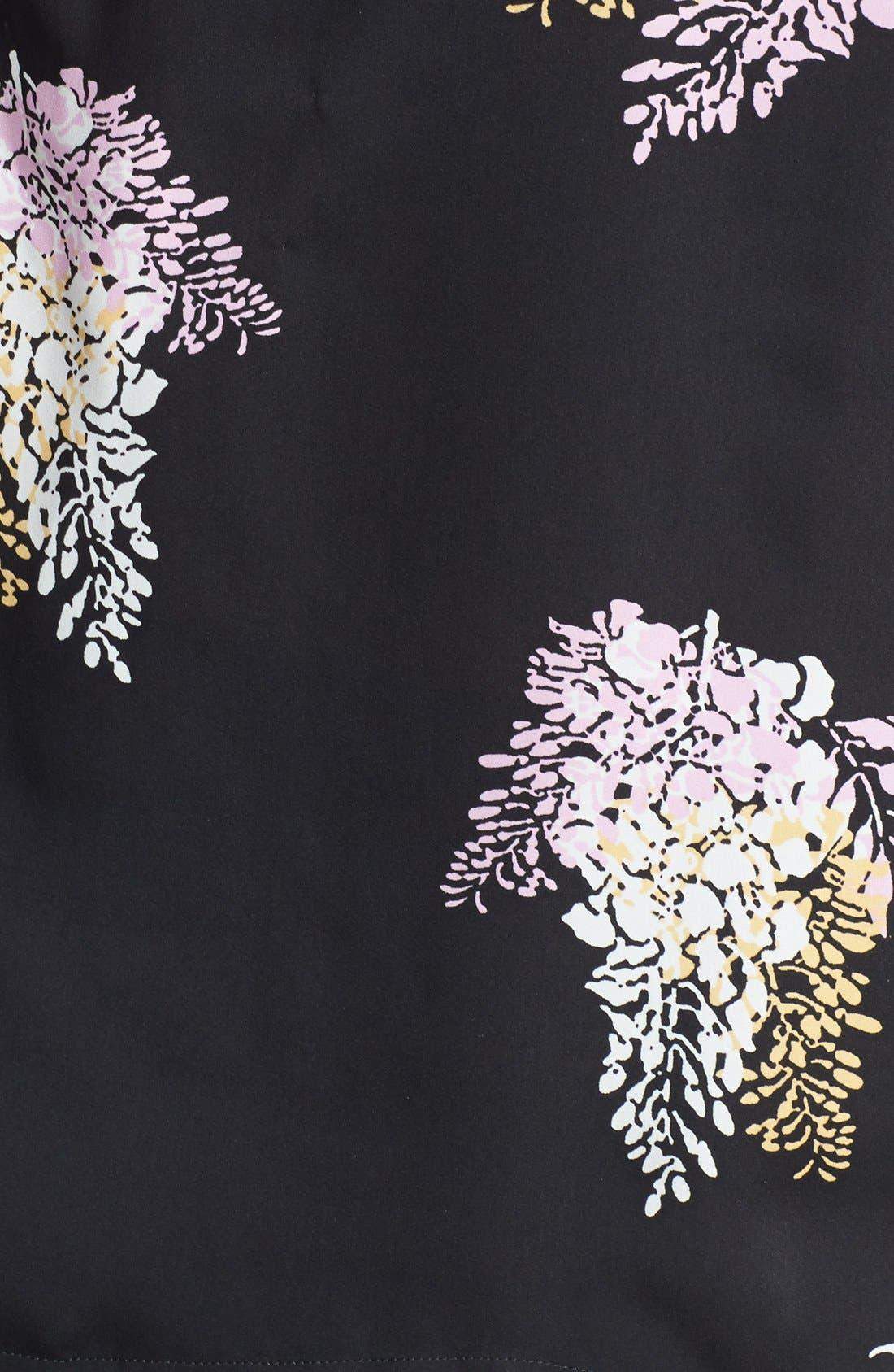 Alternate Image 3  - DKNYC Three Quarter Sleeve Print Blouse (Plus Size)