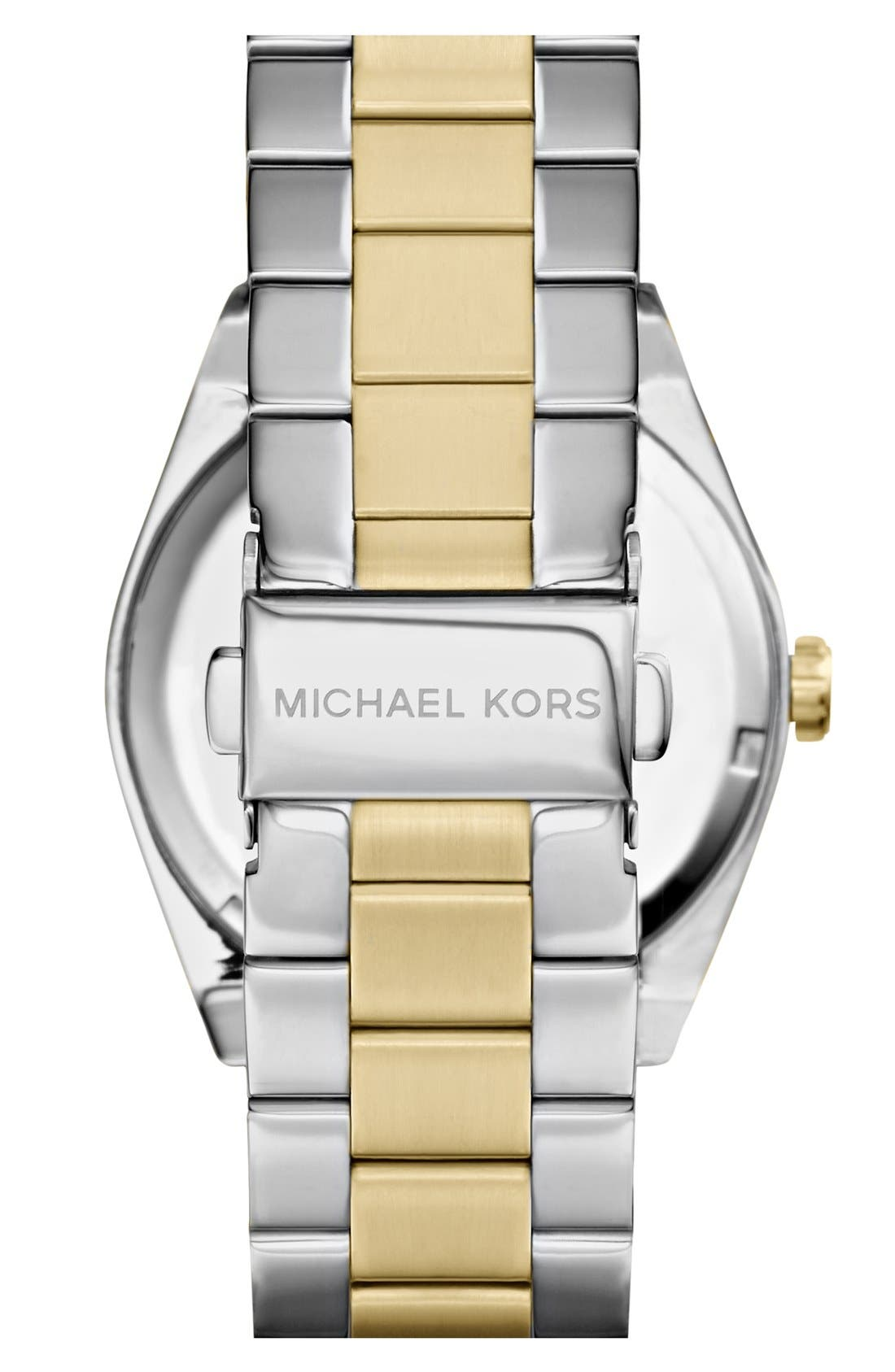 Alternate Image 2  - Michael Kors 'Channing' Lapis Dial Bracelet Watch, 38mm