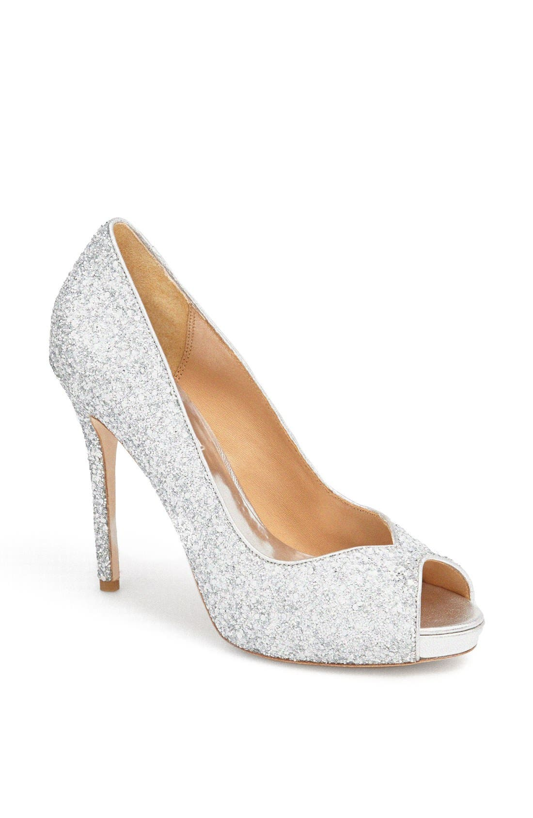Alternate Image 1 Selected - Badgley Mischka 'Kassidy' Glitter Pump
