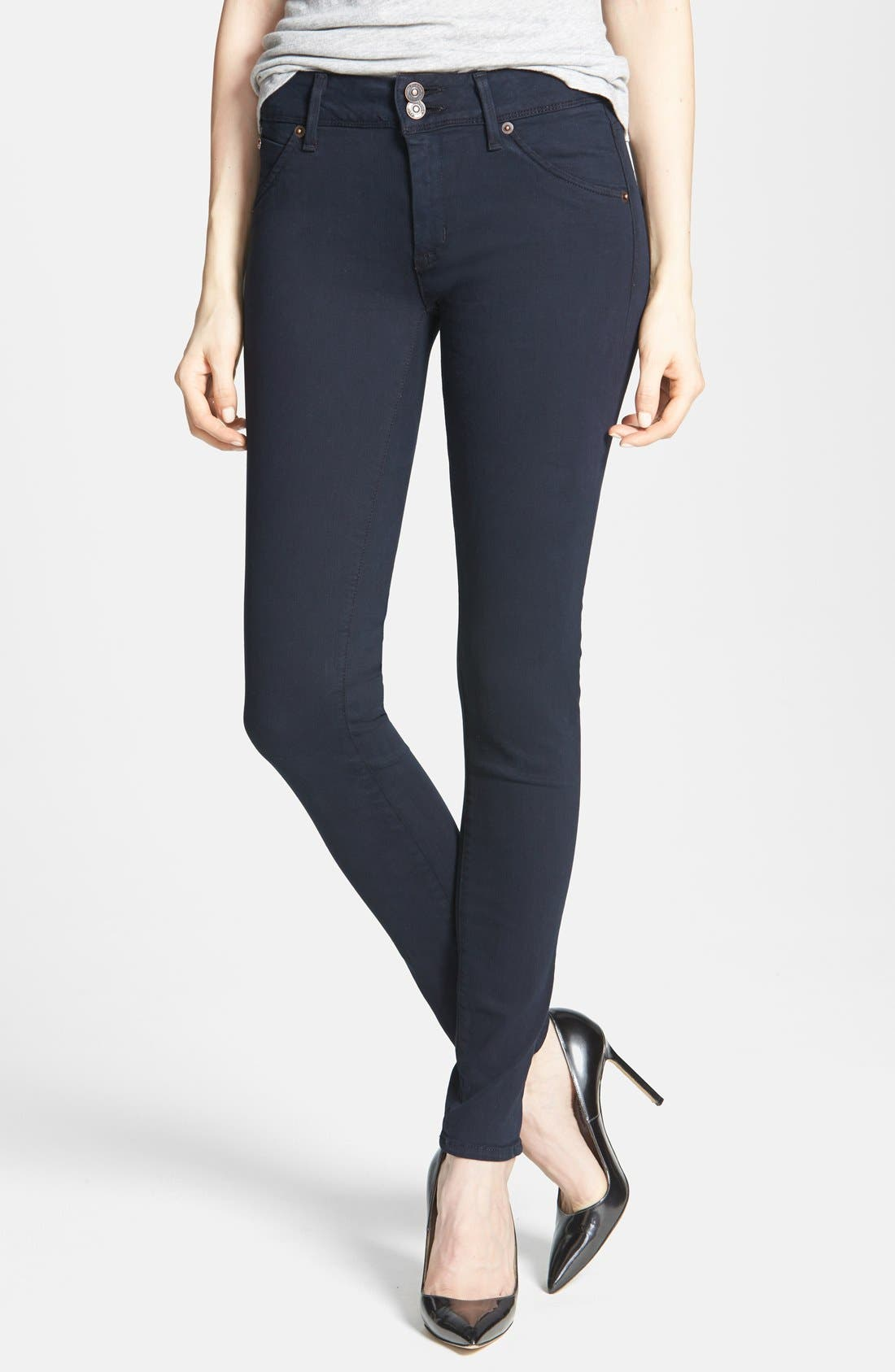 Alternate Image 1 Selected - Hudson Jeans 'Collin' Skinny Stretch Jeans (Black Iris)