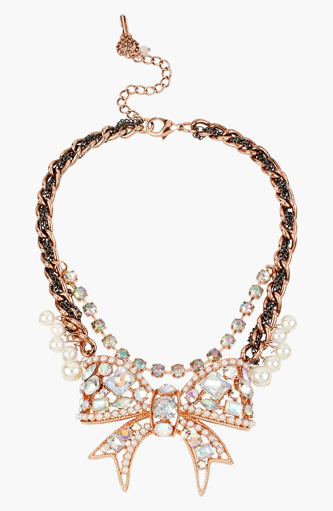 Alternate Image 1 Selected - Betsey Johnson 'Critter Boost' Frontal Necklace