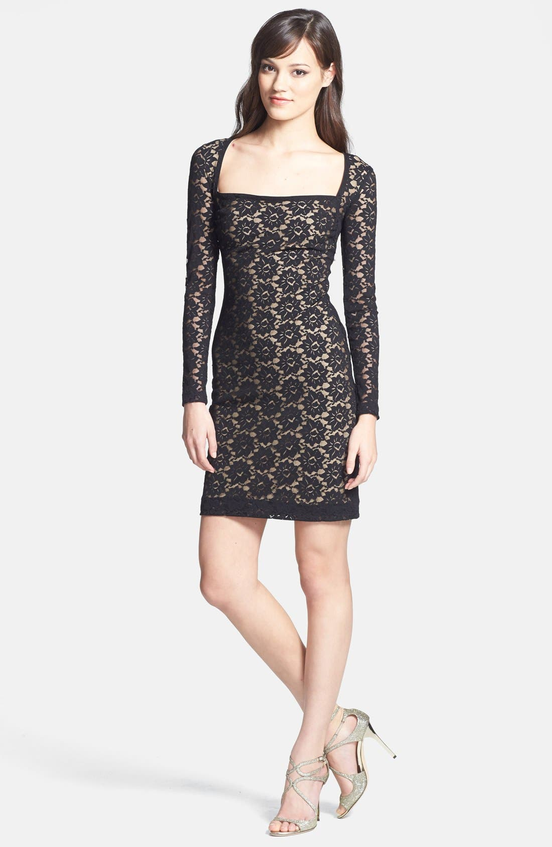 Alternate Image 3  - Nicole Miller Stretch Lace Body-Con Dress