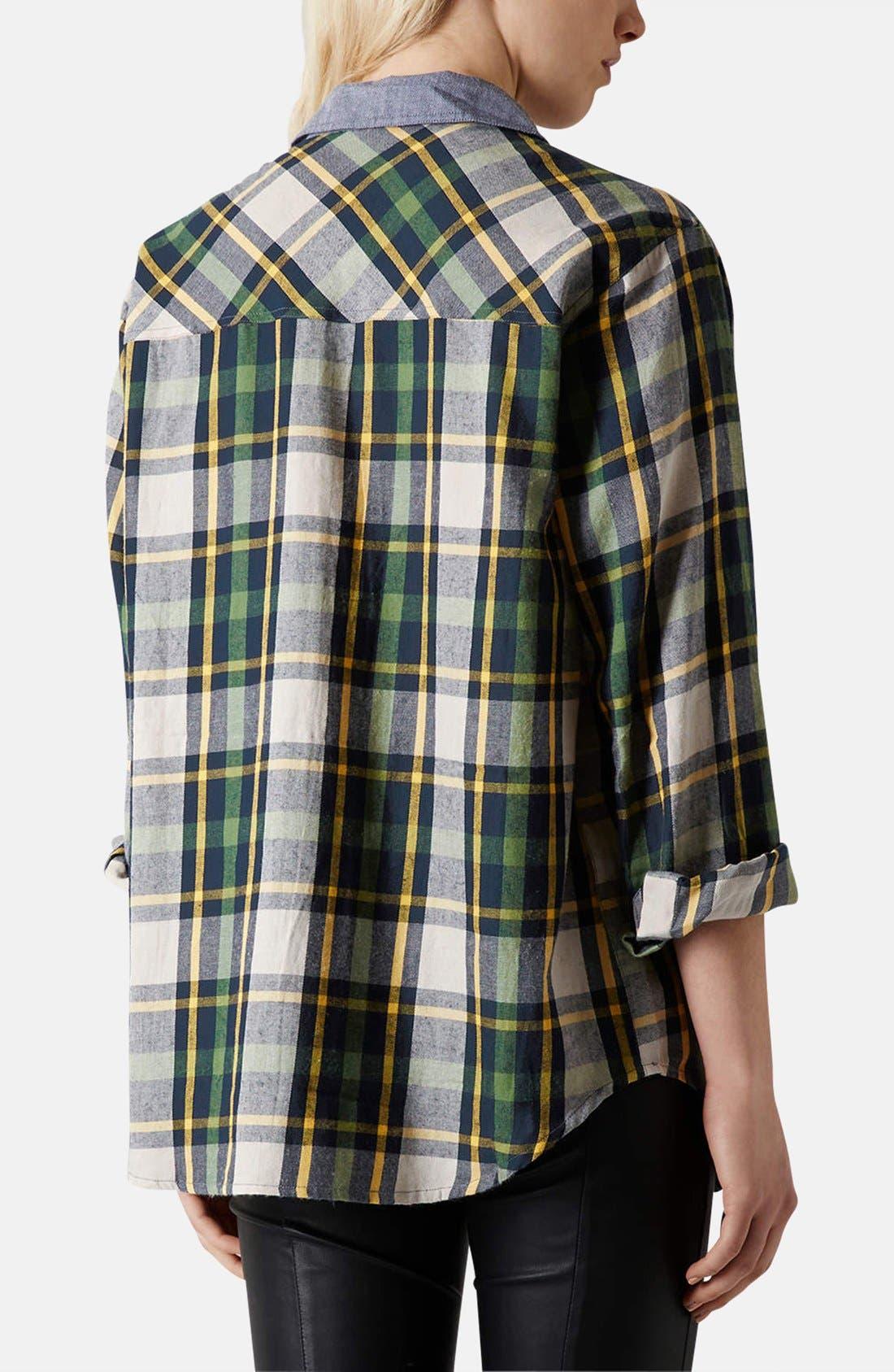 Alternate Image 2  - Topshop 'Marvin' Oversized Plaid Shirt