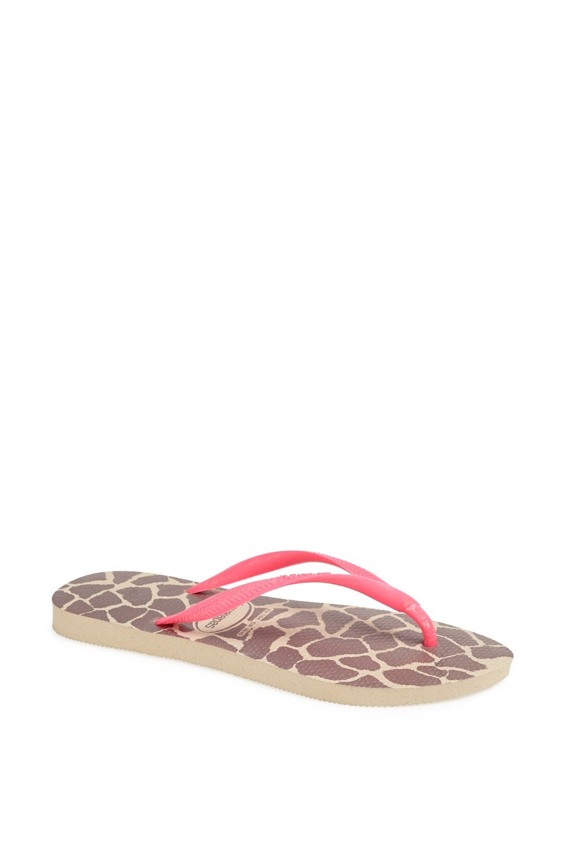 Alternate Image 1 Selected - Havaianas 'Slim Fluorescent Animal' Sandal (Women)