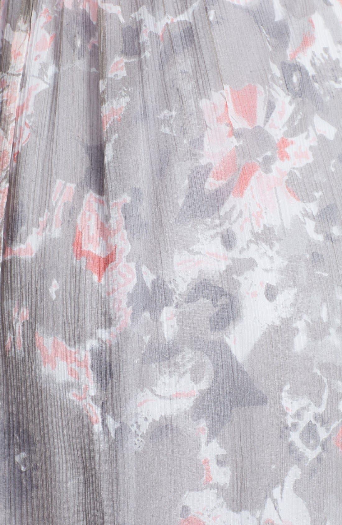 Alternate Image 3  - Amsale 'Amore' Floral Print Silk Chiffon Gown