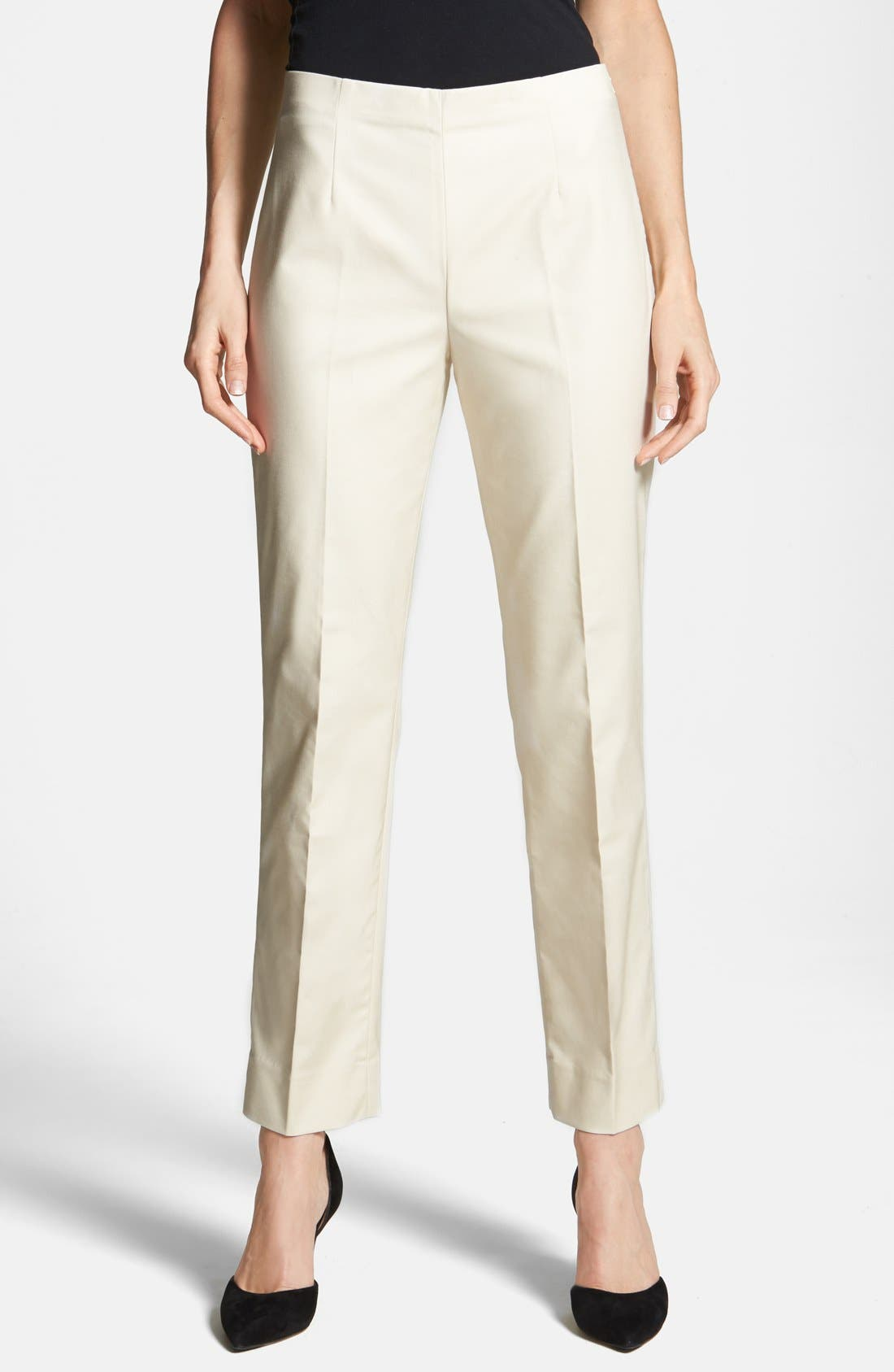 NIC+ZOE 'The Perfect' Side Zip Ankle Pants (Petite)