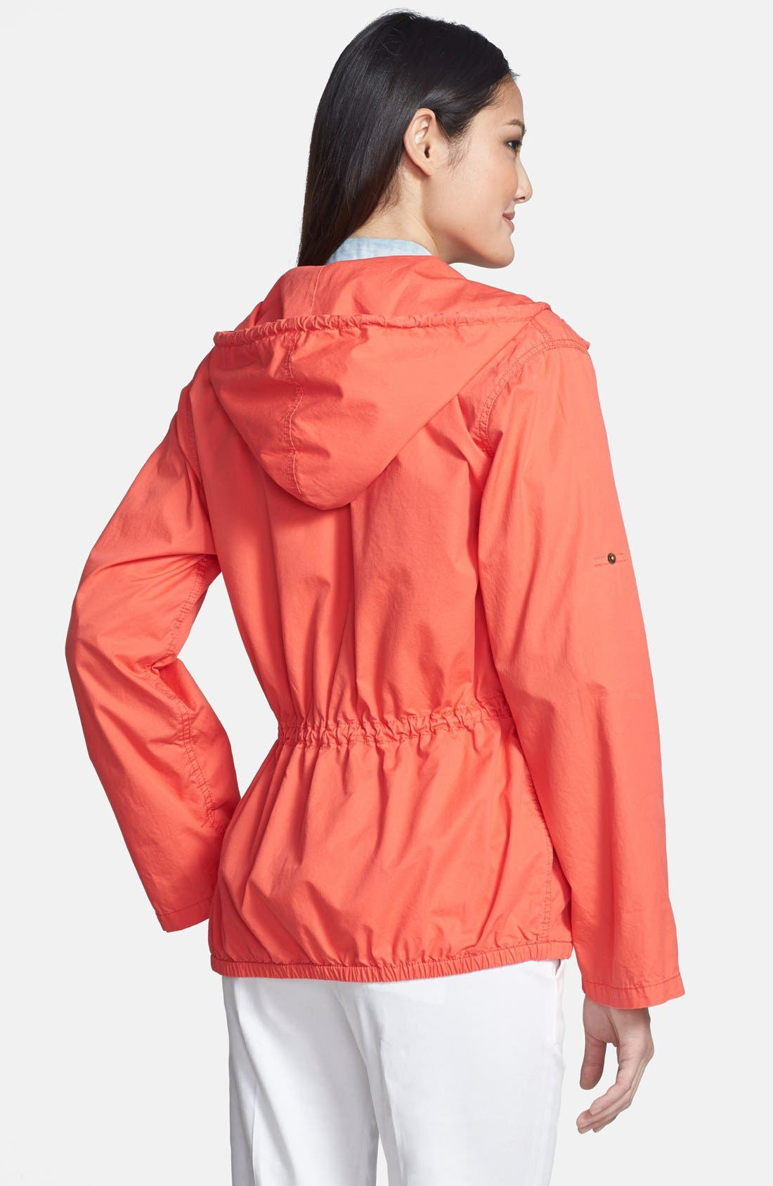 Alternate Image 2  - MICHAEL Michael Kors Cinch Waist Cotton Twill Anorak (Regular & Petite)