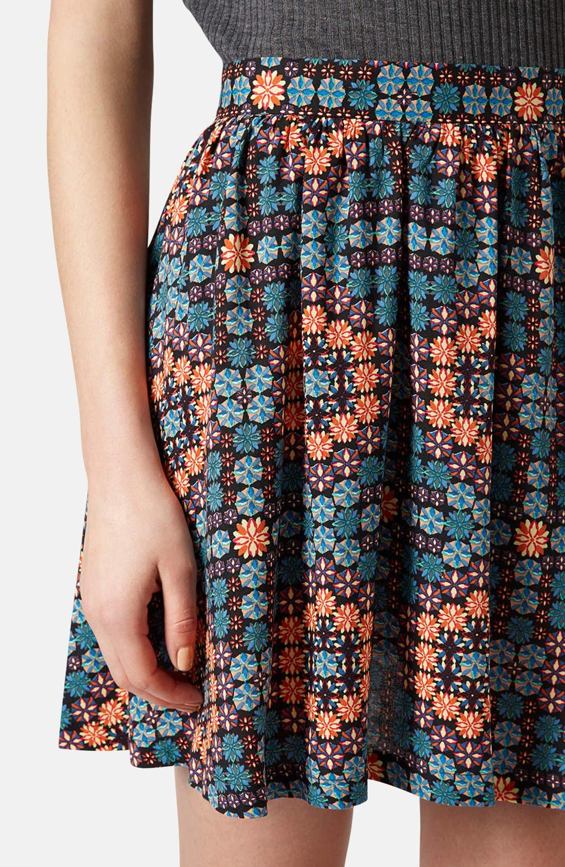 Alternate Image 4  - Topshop 'Milly' Tile Print Skirt