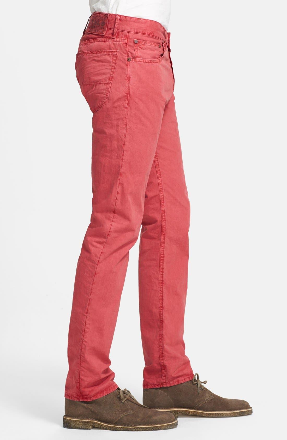 Alternate Image 4  - Polo Ralph Lauren Slim Fit Poplin Pants (Nantucket Red)