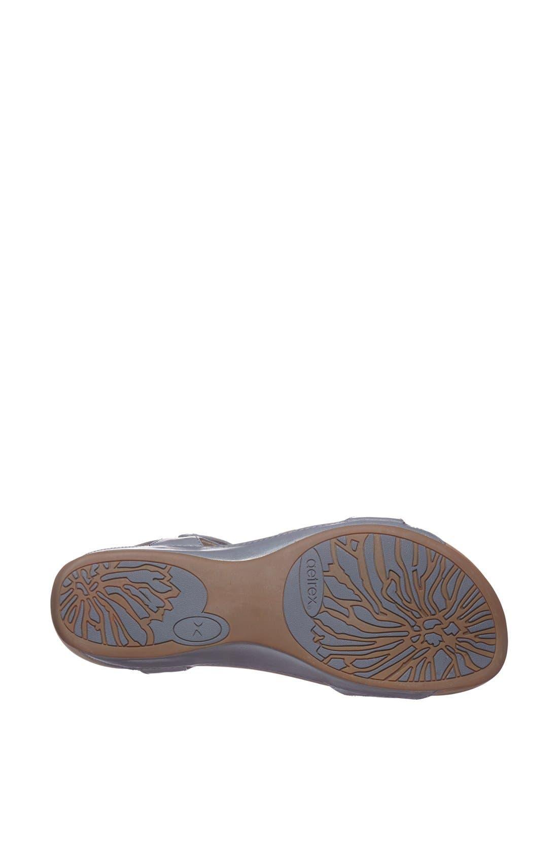 Alternate Image 4  - Aetrex 'Alyssa' Leather Sandal