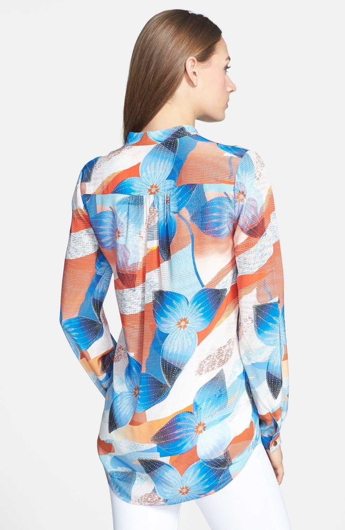Alternate Image 2  - Diane von Furstenberg 'Gilmore' Print Silk Blouse