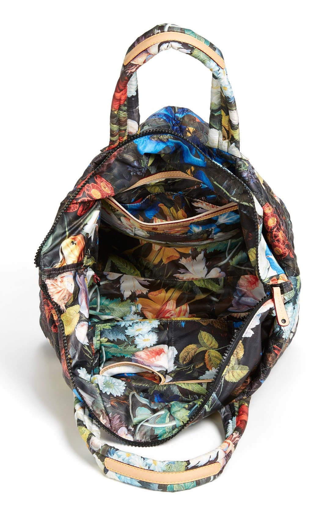 Alternate Image 3  - MZ Wallace 'Medium Floral Oxford - Metro' Quilted Tote (Nordstrom Exclusive)