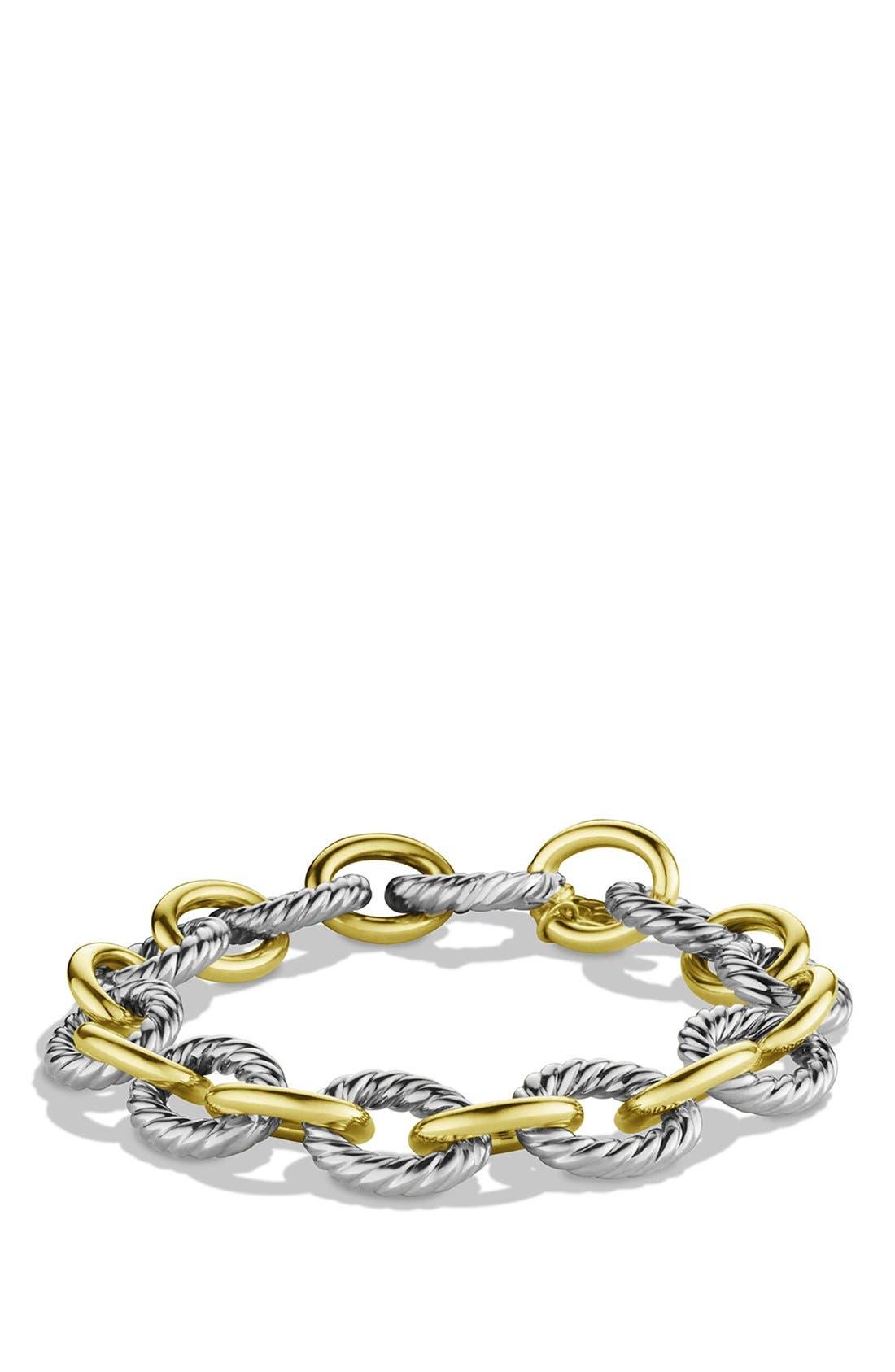 David Yurman 'Oval' Large Link Bracelet with Gold