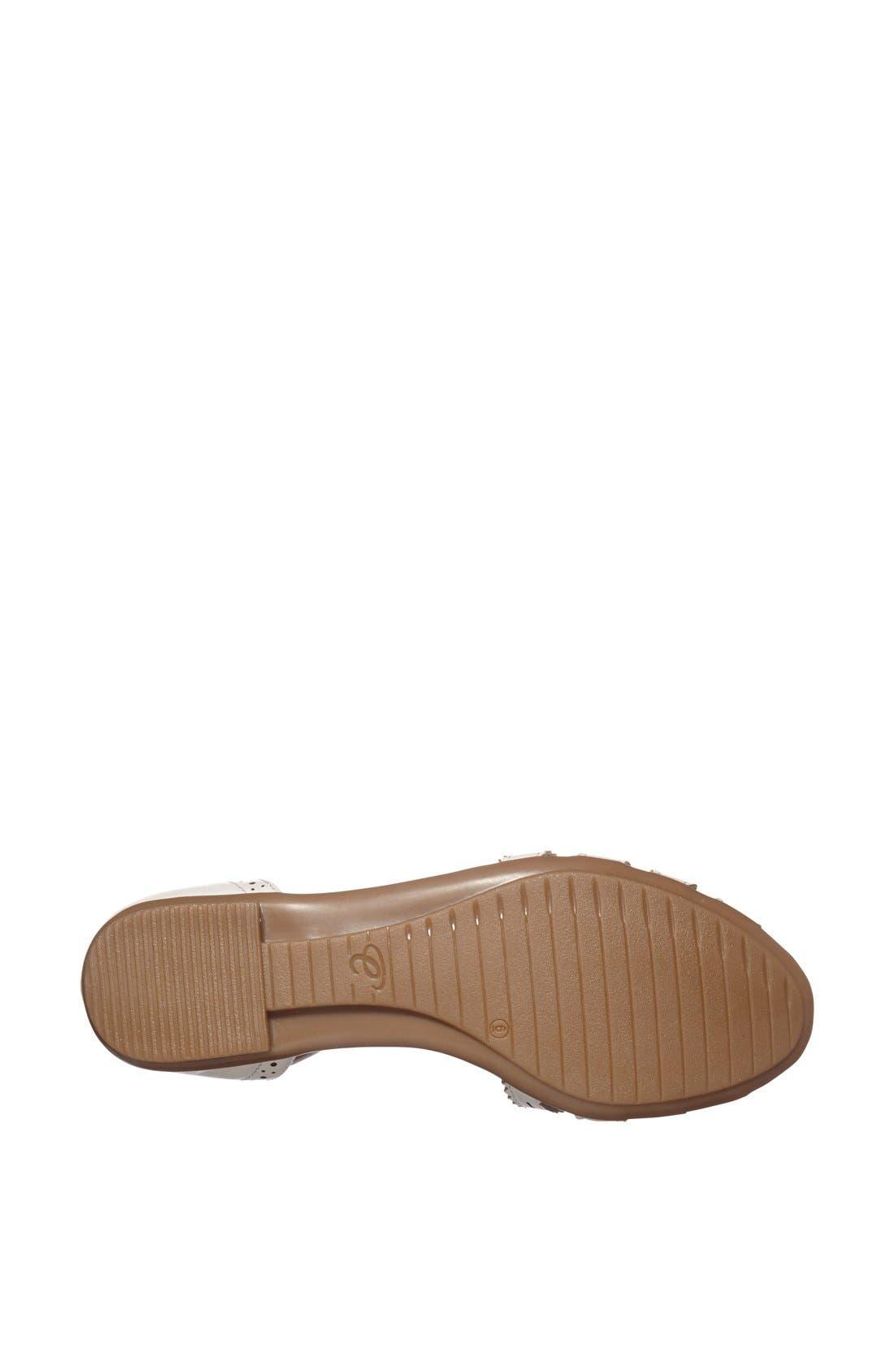 Alternate Image 4  - Easy Spirit 'e360 - Galfriday' Pinked & Perforated Leather Quarter Strap Sandal (Women)