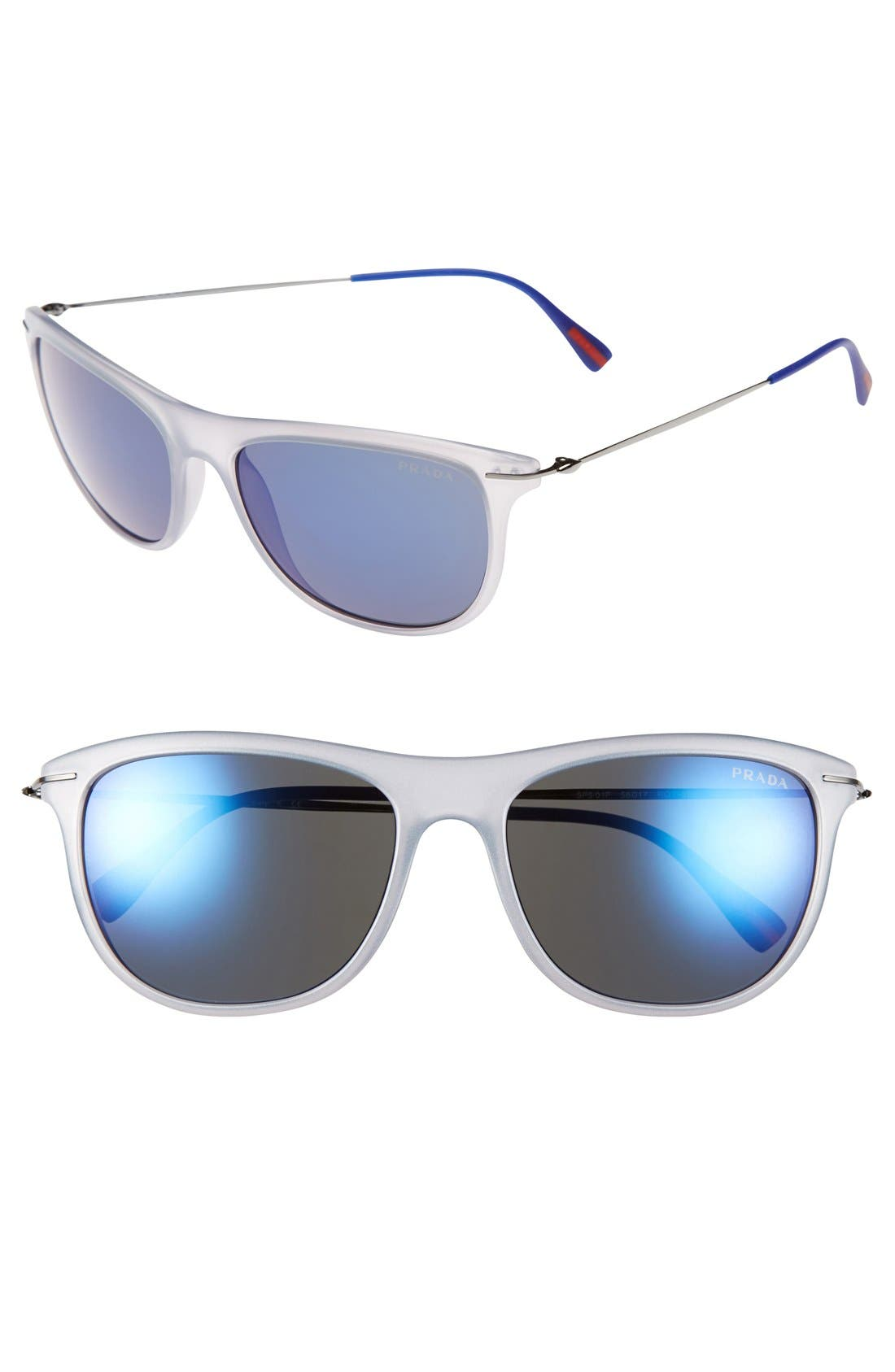 Alternate Image 1 Selected - Prada 'Pilot' 56mm Sunglasses