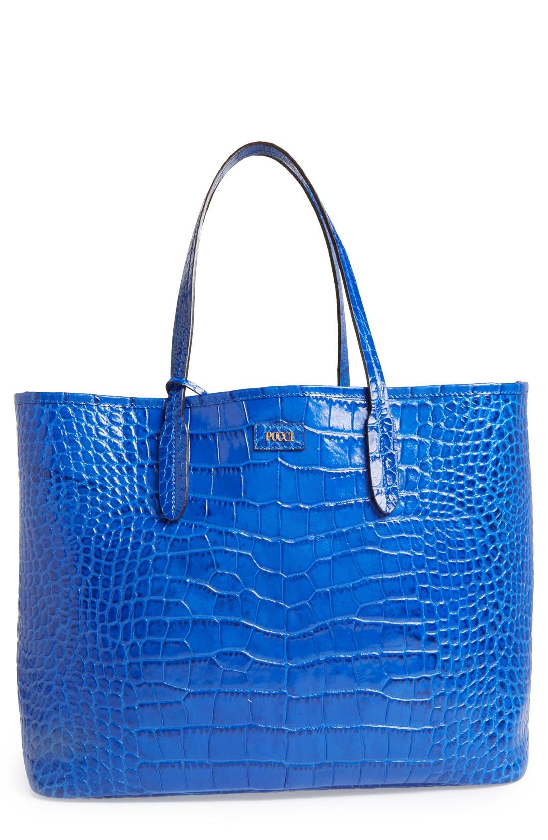 Alternate Image 1 Selected - Emilio Pucci Croc Embossed Leather Tote