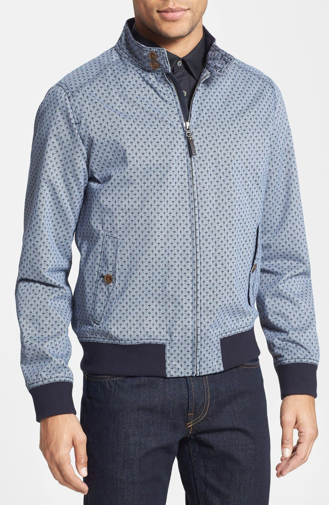 Alternate Image 1 Selected - Ted Baker London 'Lorien' Printed Cotton Bomber Jacket