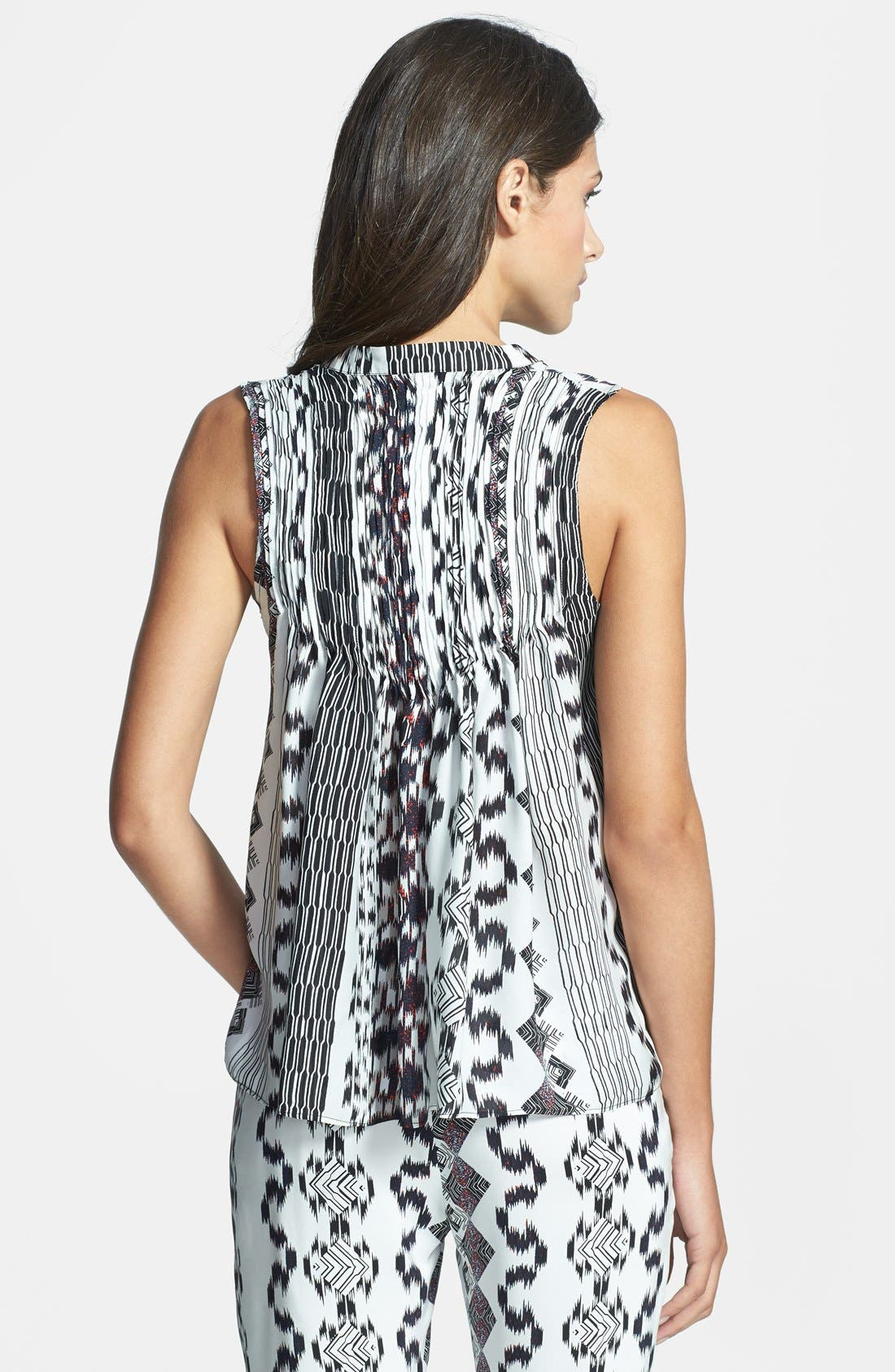 Alternate Image 2  - Parker 'Brooklyn' Print Silk Top