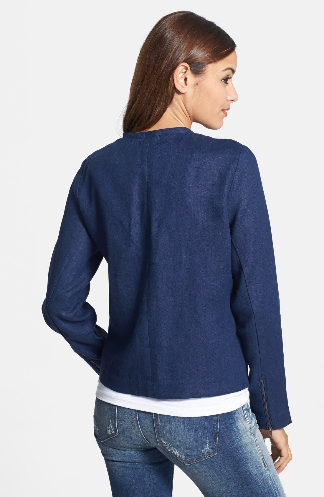 Alternate Image 2  - Gibson Collarless Linen Jacket