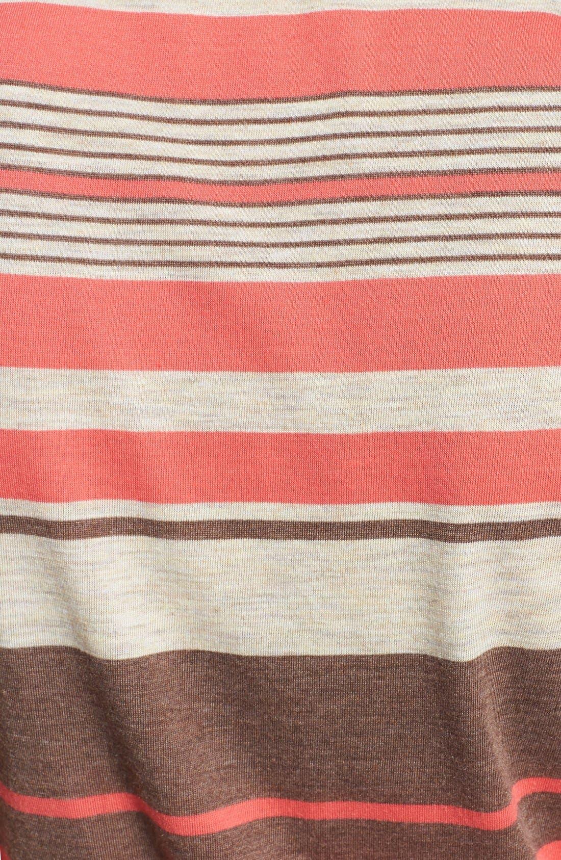 Alternate Image 3  - Loveappella Faux Wrap Stripe Maxi Dress