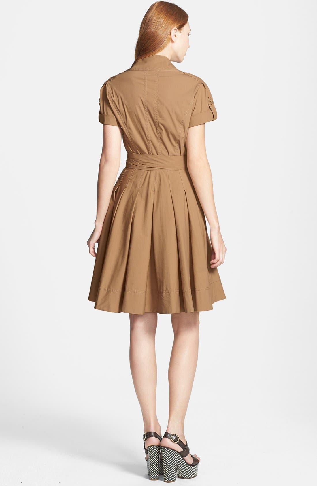 Alternate Image 2  - Diane von Furstenberg 'Kaley' Pleated Cotton Blend Wrap Dress