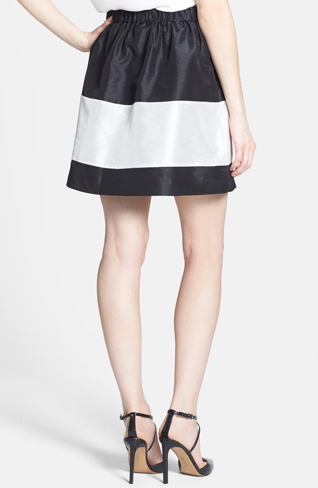 Alternate Image 2  - kensie Colorblock Shantung Skirt