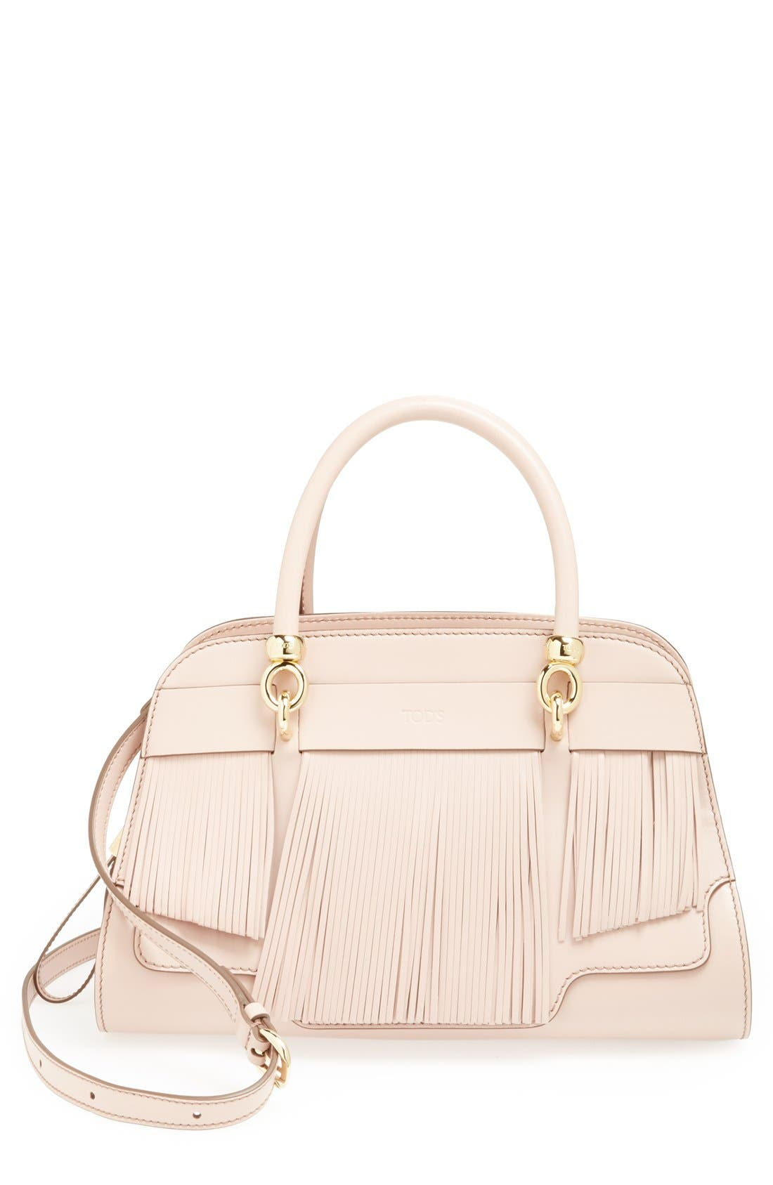 Alternate Image 1 Selected - Tod's 'Sella' Fringe Leather Satchel