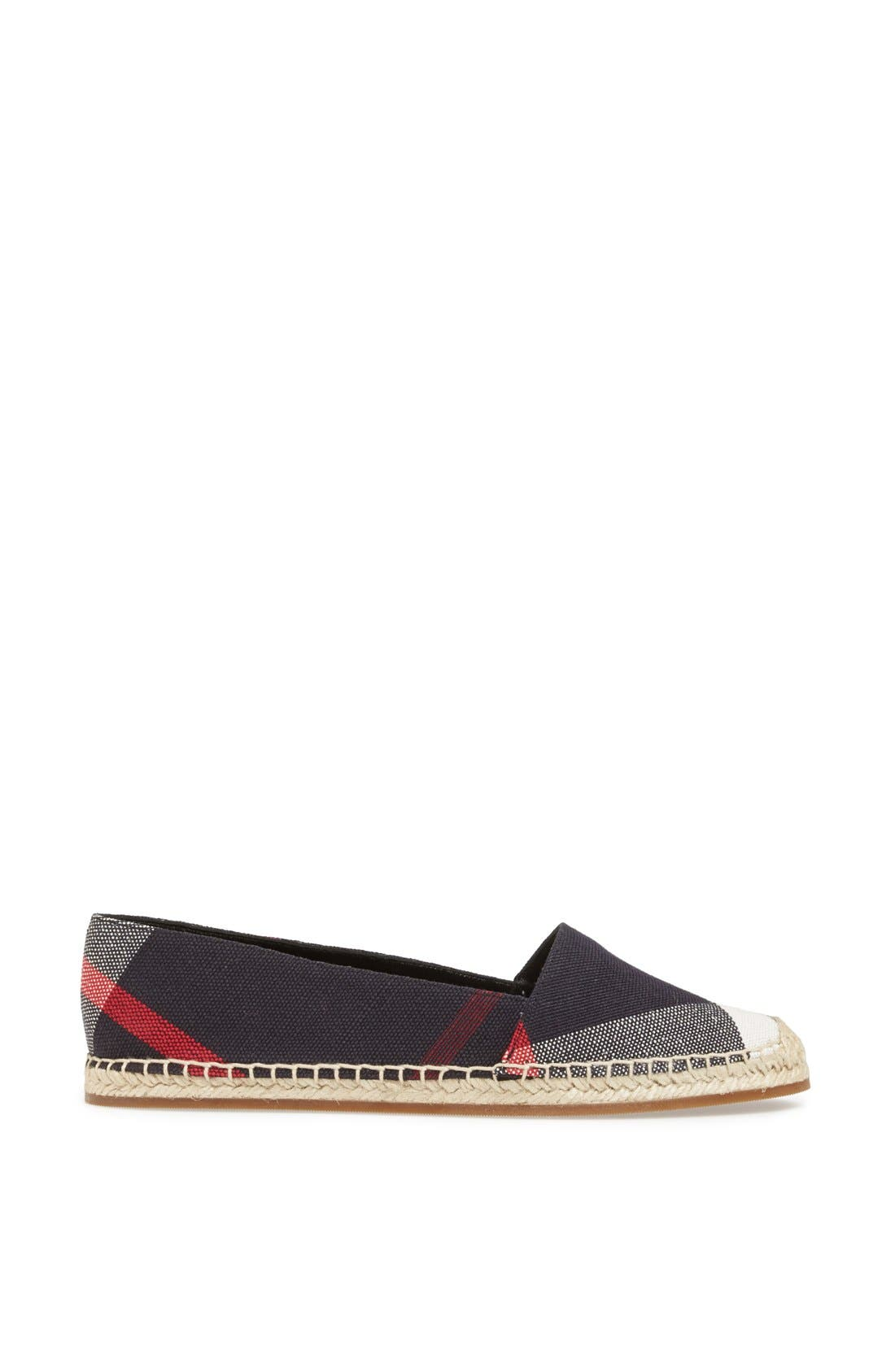 Alternate Image 4  - Burberry Hodgeson Check Print Espadrille Flat (Women)