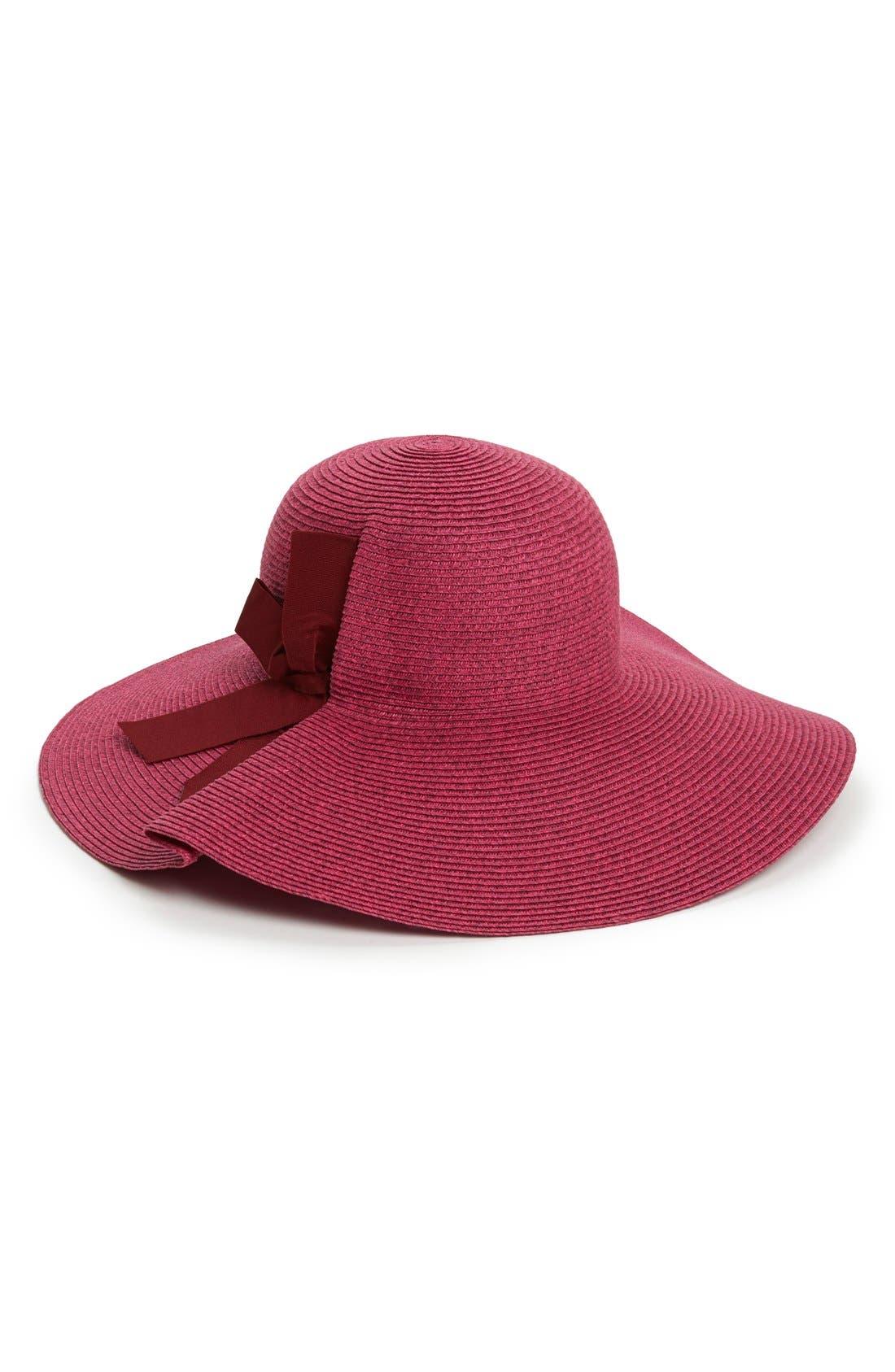 Main Image - Jessica Simpson Side Bow Floppy Hat