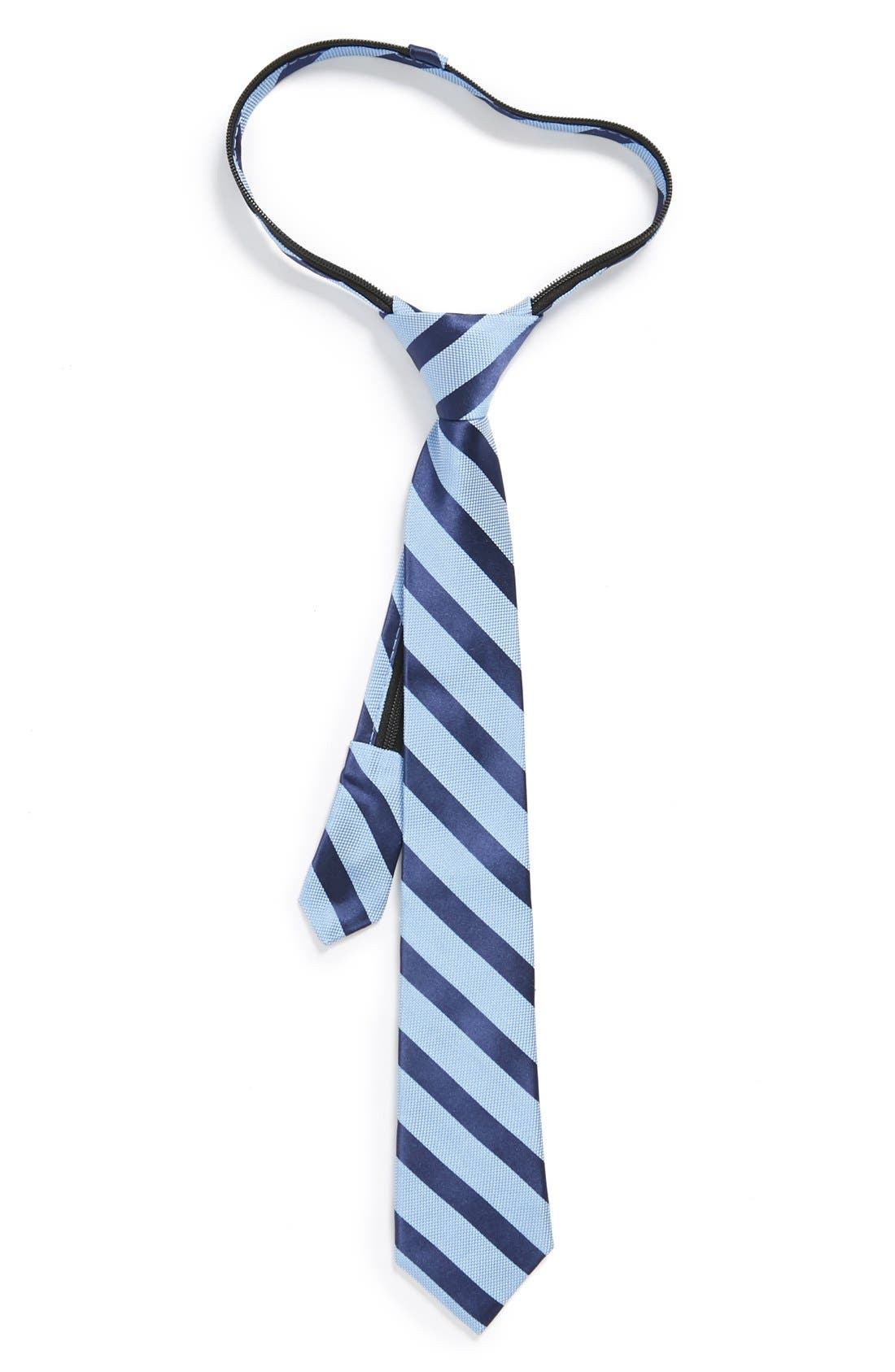 Main Image - Nordstrom Silk Zipper Tie (Big Boys)